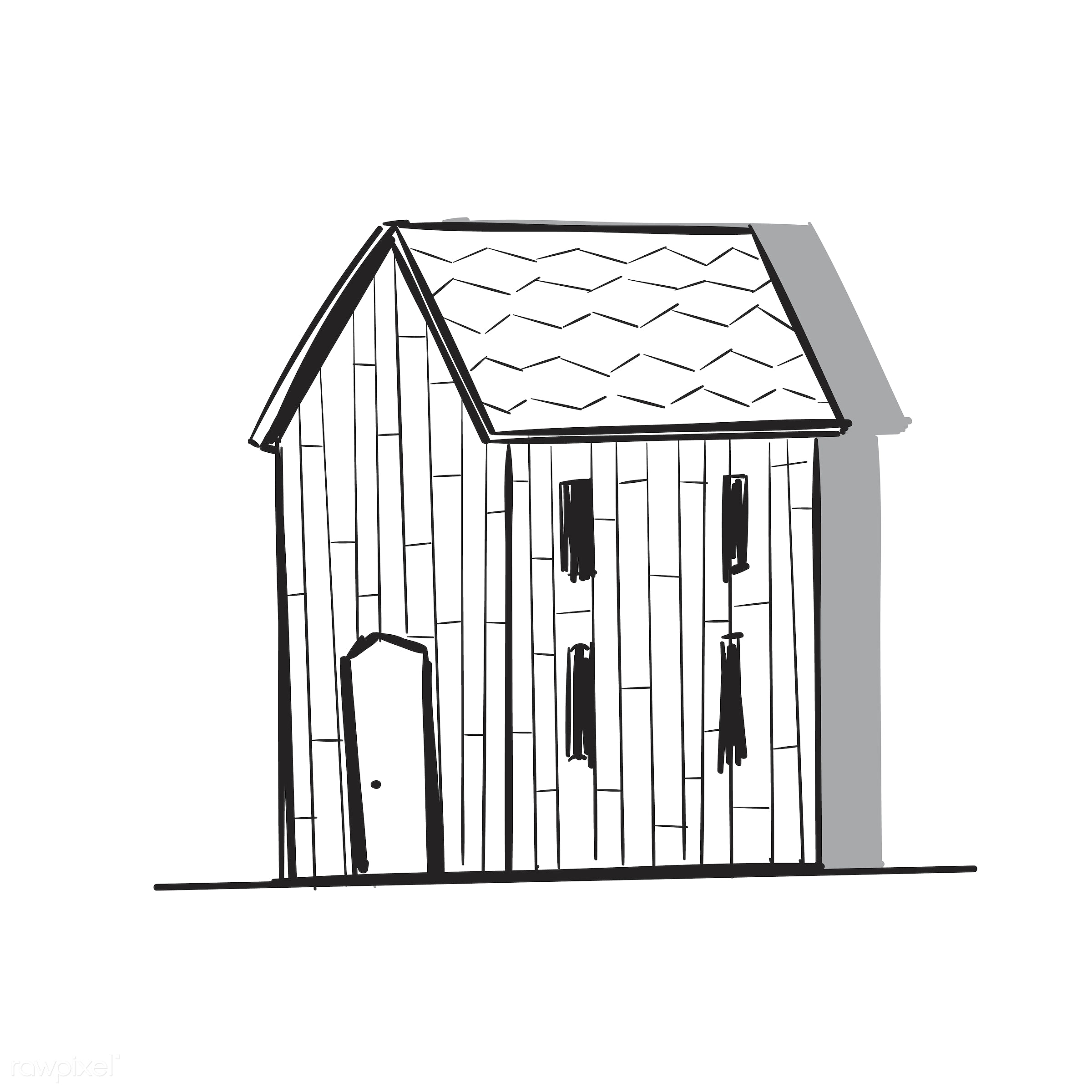 Hand drawing illustration of lifestyle concept - barn, artwork, creativity, design, draw, drawing, drawn, freedom, graphic,...