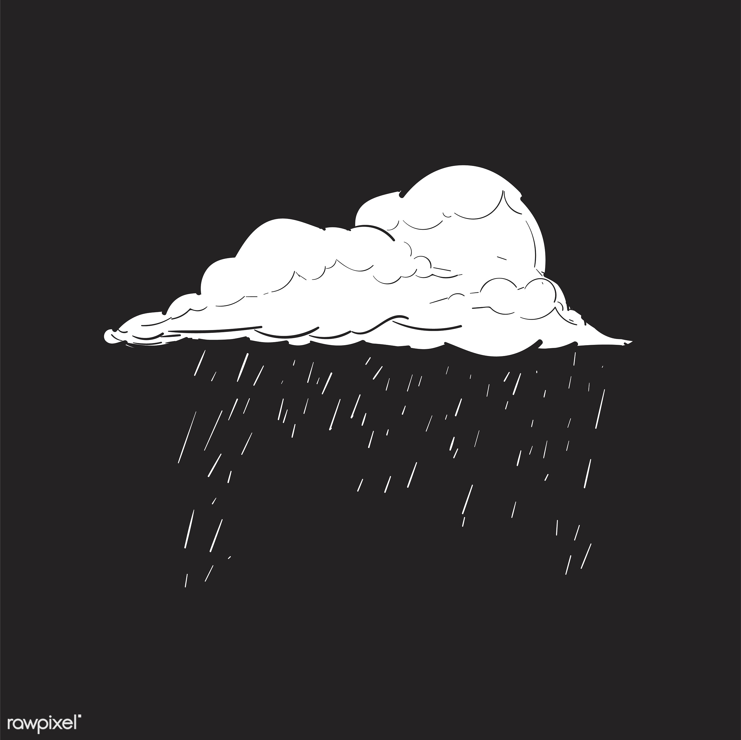 Hand drawing illustration of lifestyle concept - rain, time, artwork, cloud, creativity, design, draw, drawing, drawn, fail...