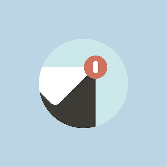 Vector of email notification icon