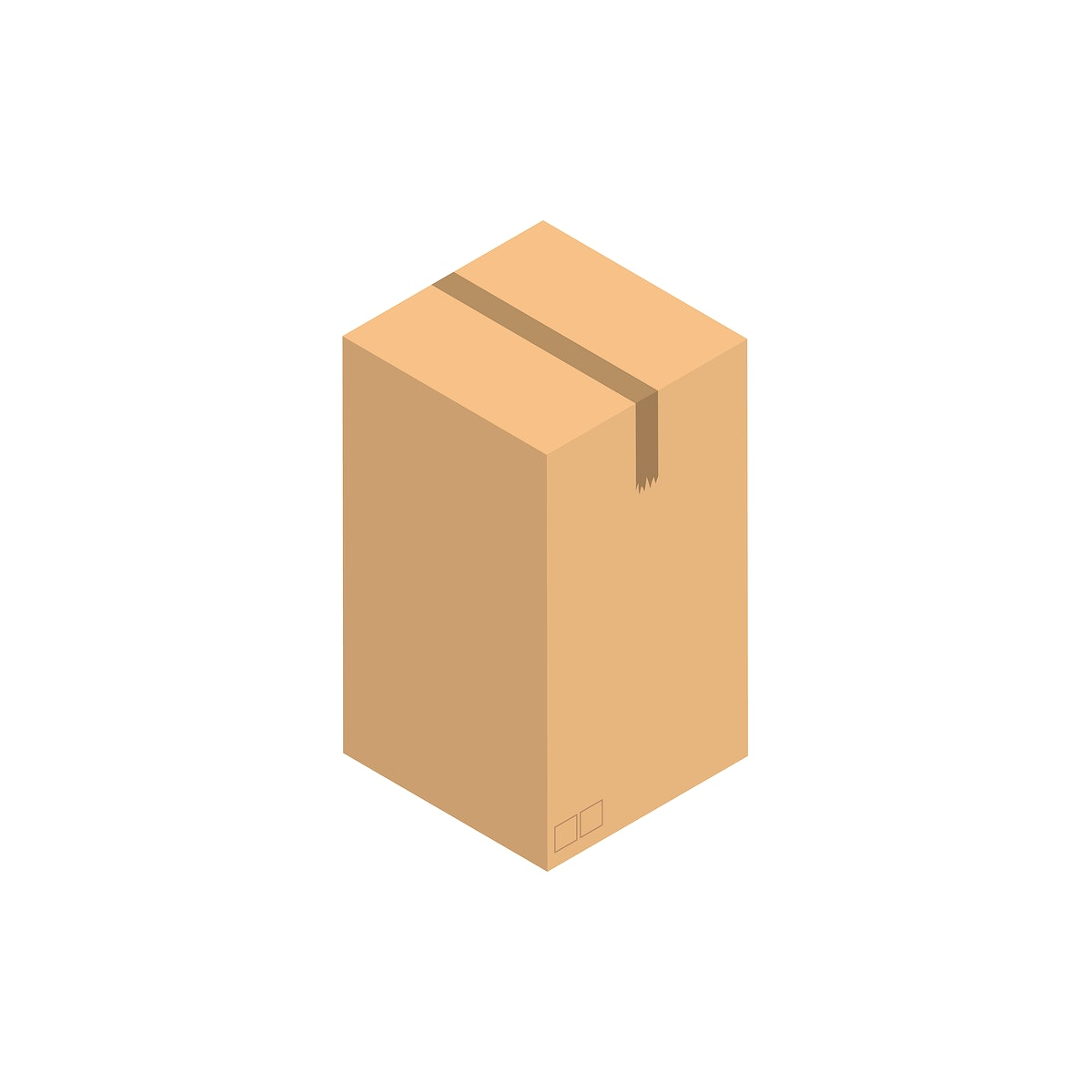 Paper brown container isolated on background