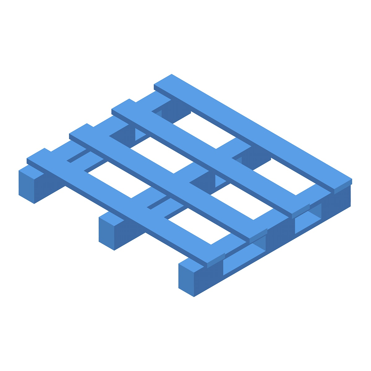 Cargo pallet isolated on background
