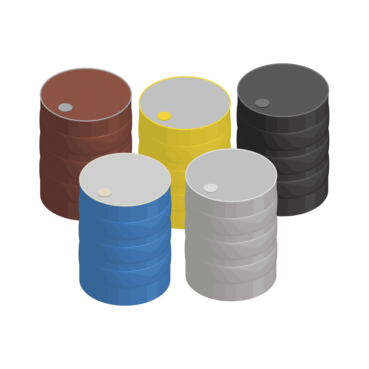 Metal liquid container isolated on background