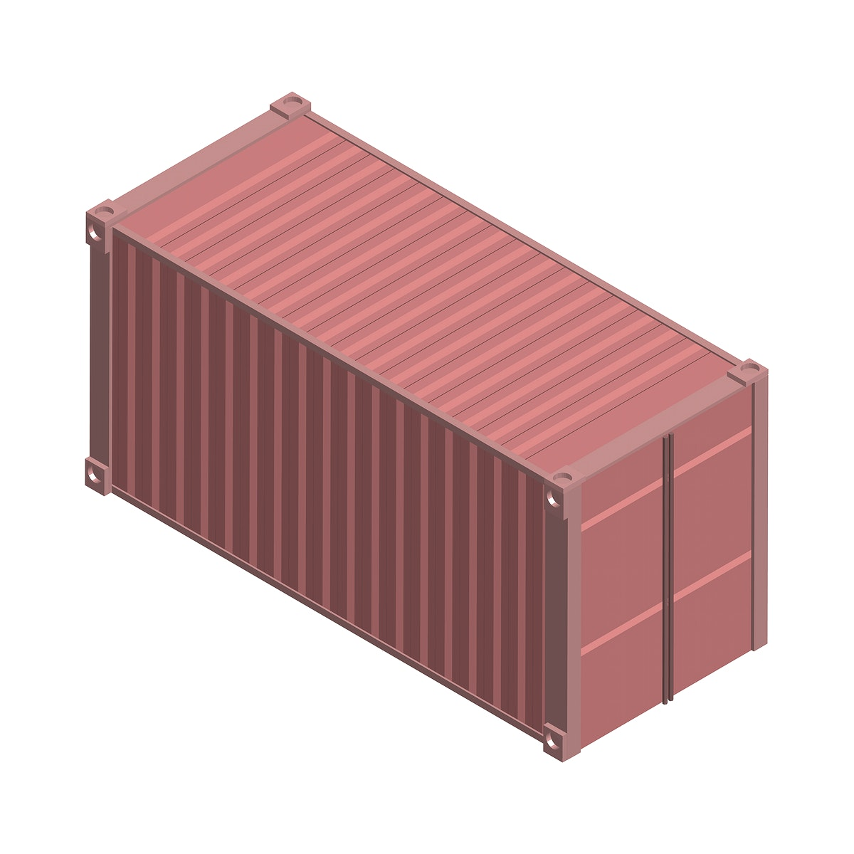 Metal square container isolated on background