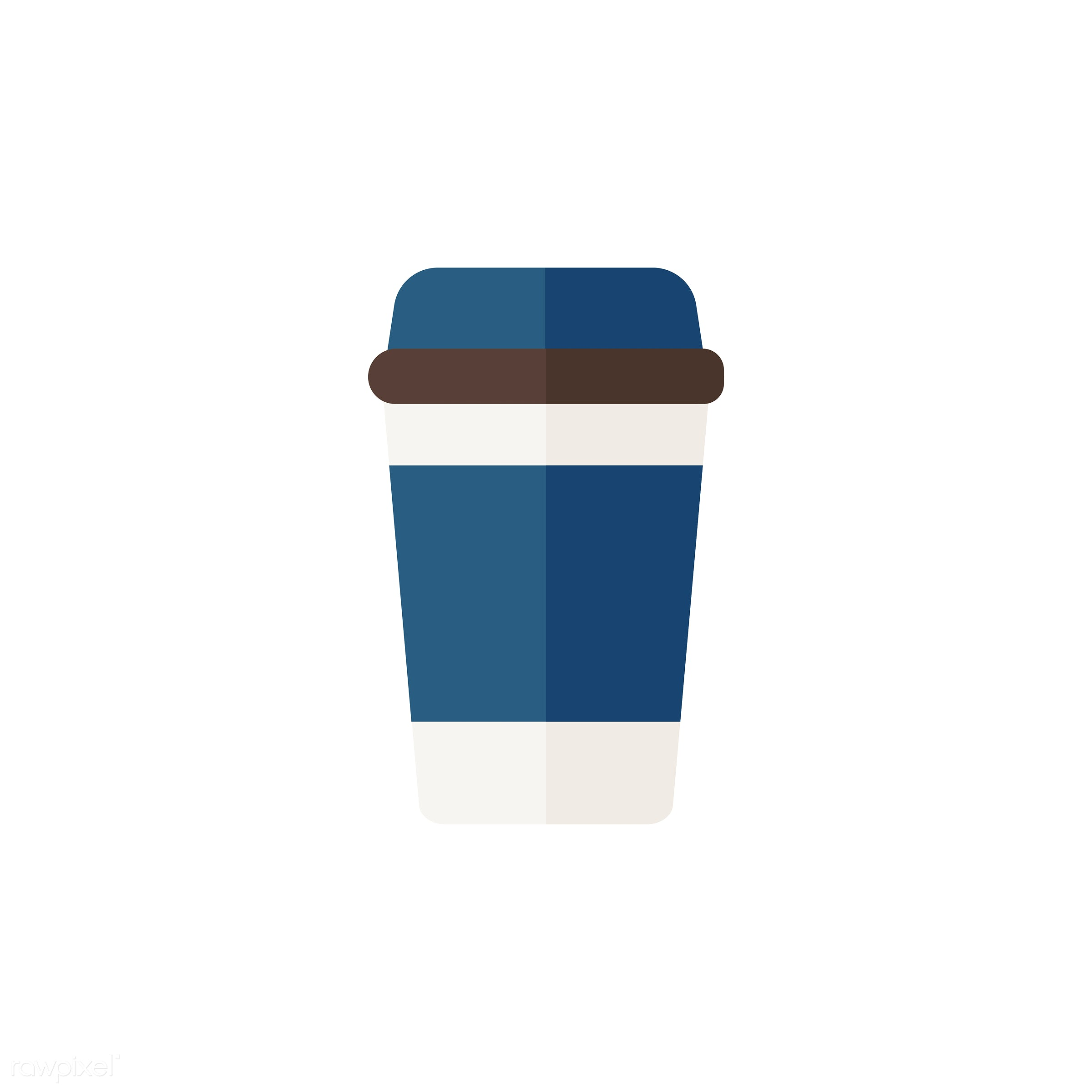 Takeaway cup vector - beverage, blue, coffee, coffee cup, colorful, drink, graphic, hot drink takeaway, icon, illustration,...