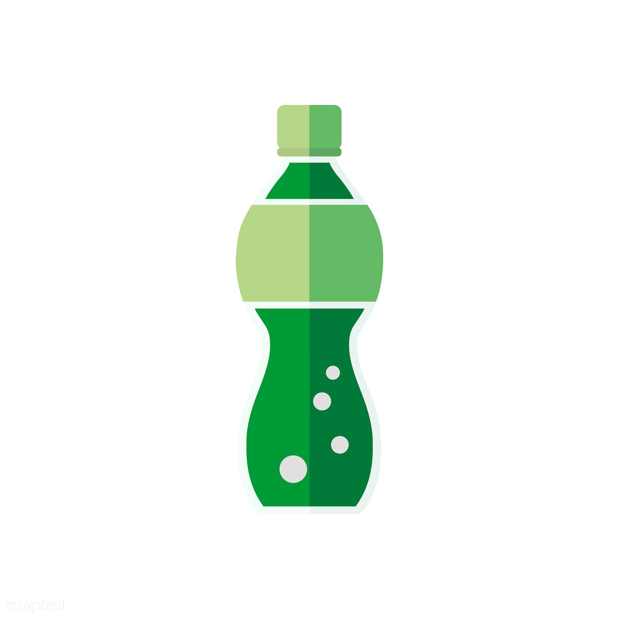 Soda bottle vector - vector, graphic, illustration, icon, symbol, colorful, cute, drink, beverage, water, soda, bottle, soda...