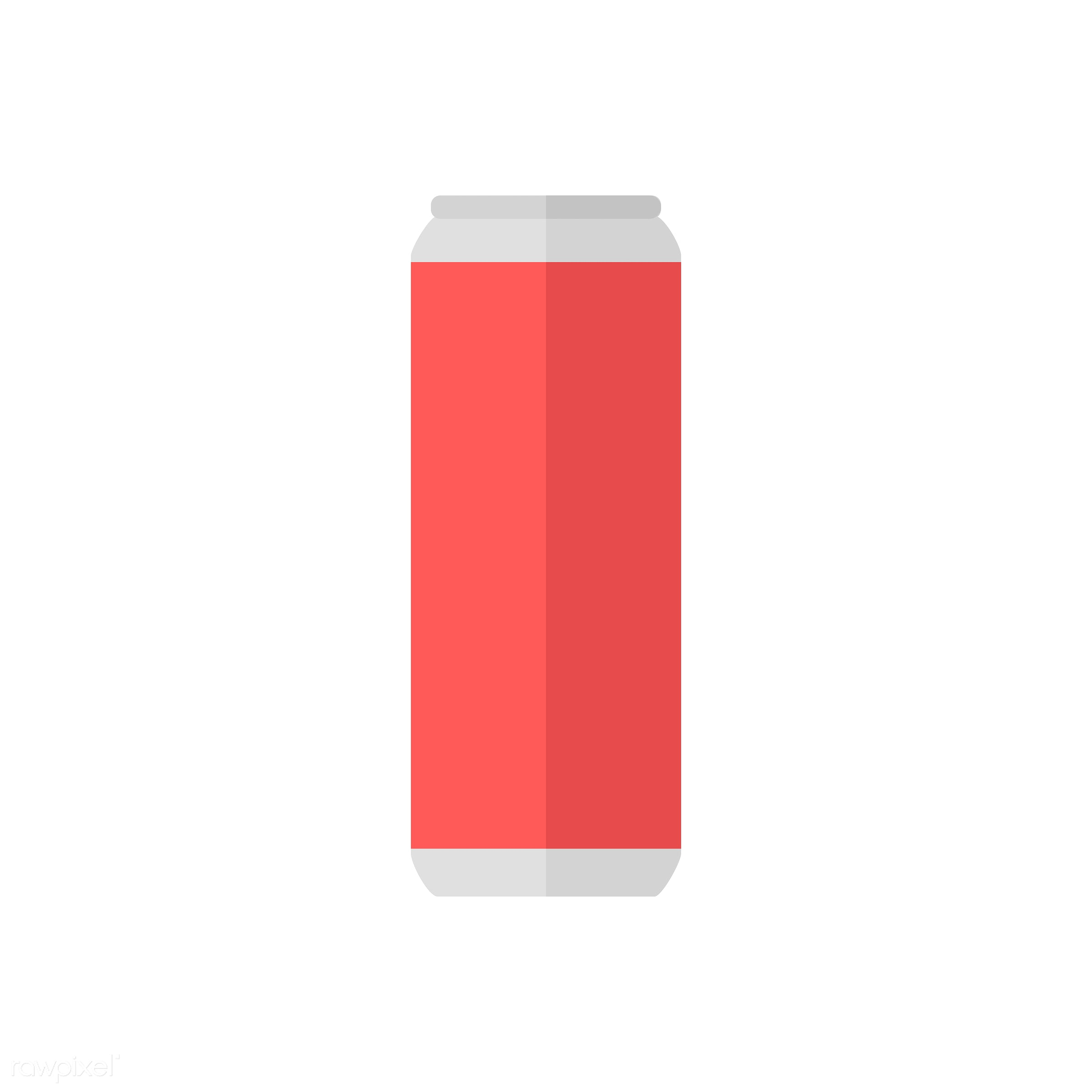 vector, graphic, illustration, icon, symbol, colorful, cute, drink, beverage, water, can, beer can, soda can, tin can