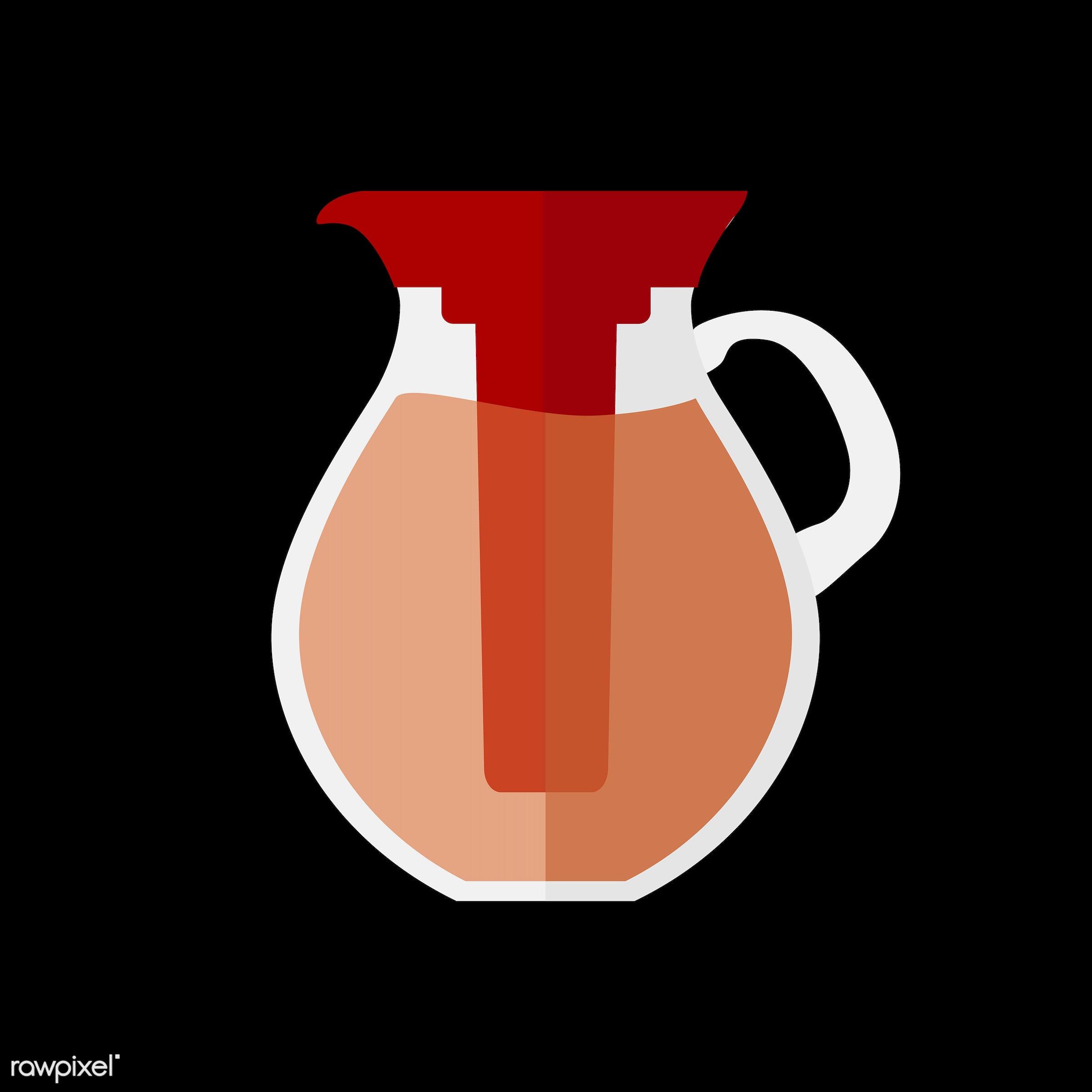 vector, graphic, illustration, icon, symbol, colorful, cute, drink, beverage, water, tea, jug, orange