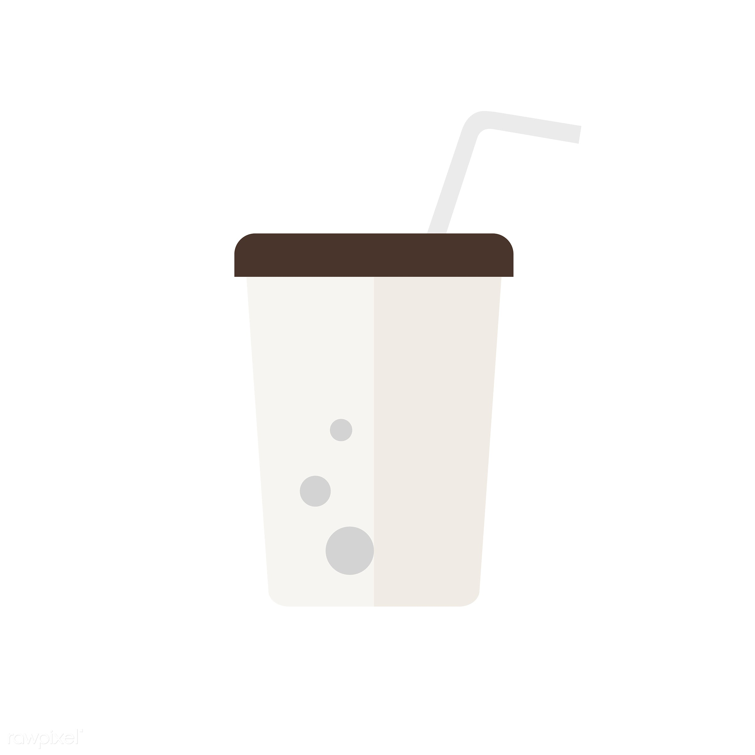 Takeaway cup vector - vector, graphic, illustration, icon, symbol, colorful, cute, drink, beverage, water, takeaway cup,...