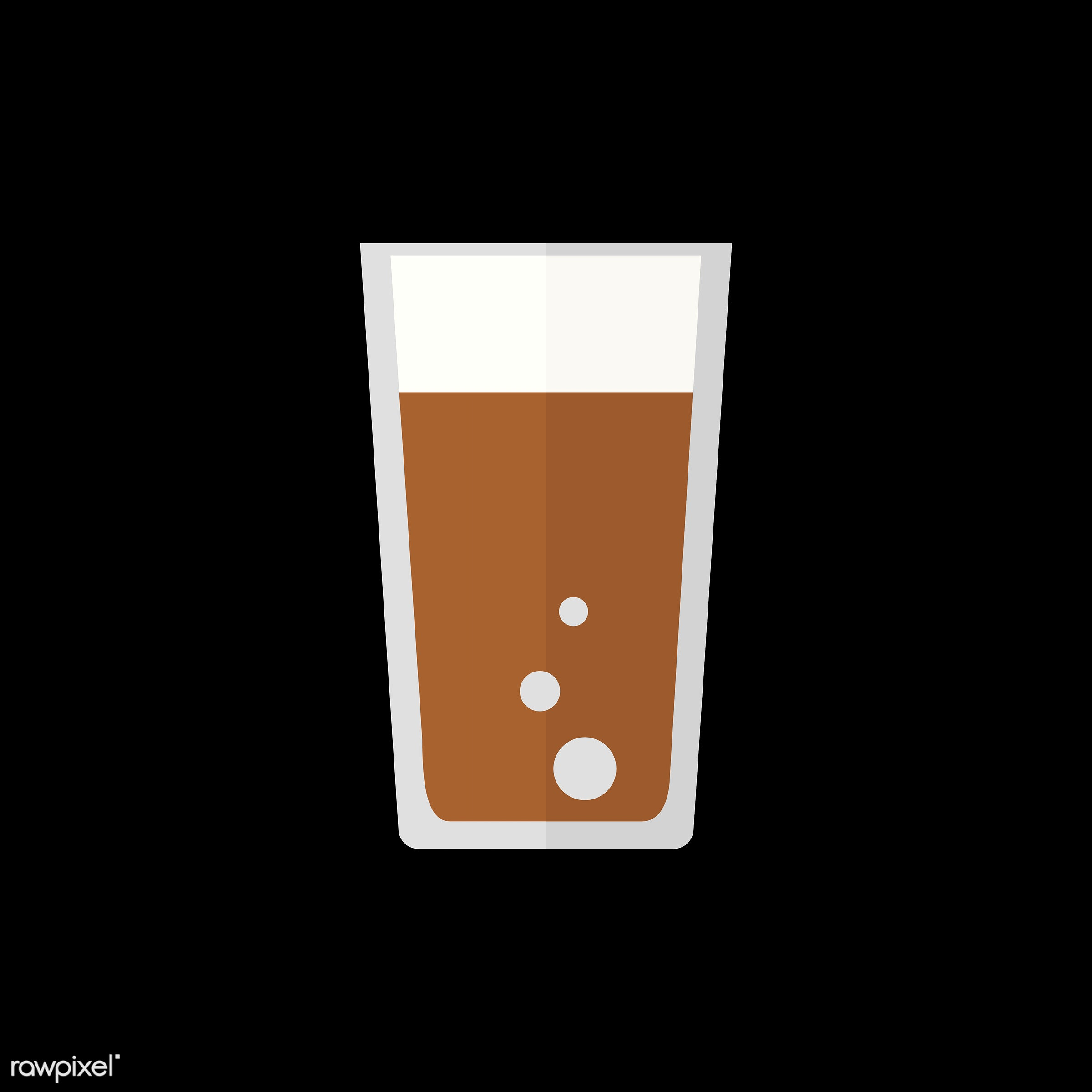 vector, graphic, illustration, icon, symbol, colorful, cute, drink, beverage, water, cola, brown