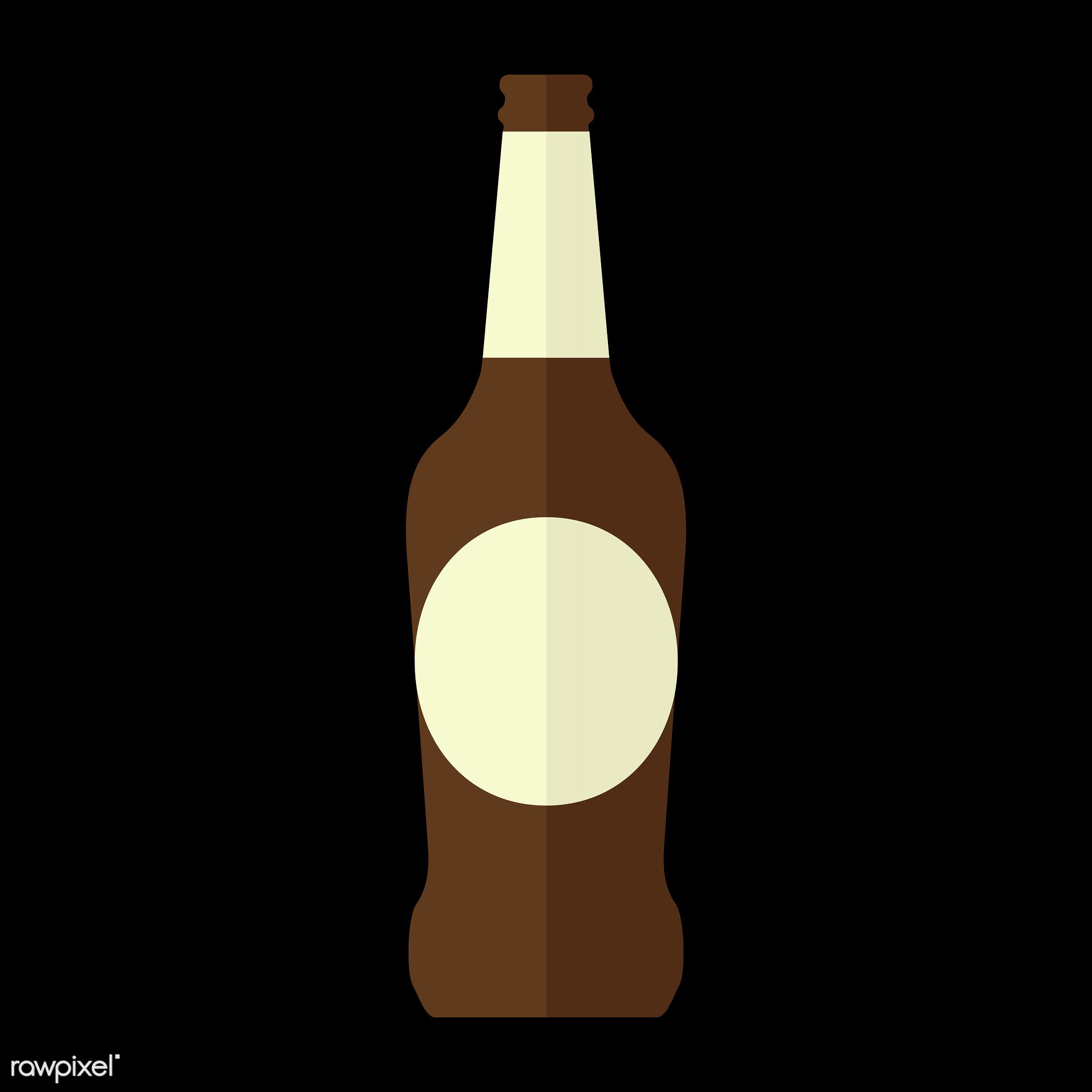 vector, graphic, illustration, icon, symbol, colorful, cute, drink, beverage, water, beer, beer bottle, glass bottle