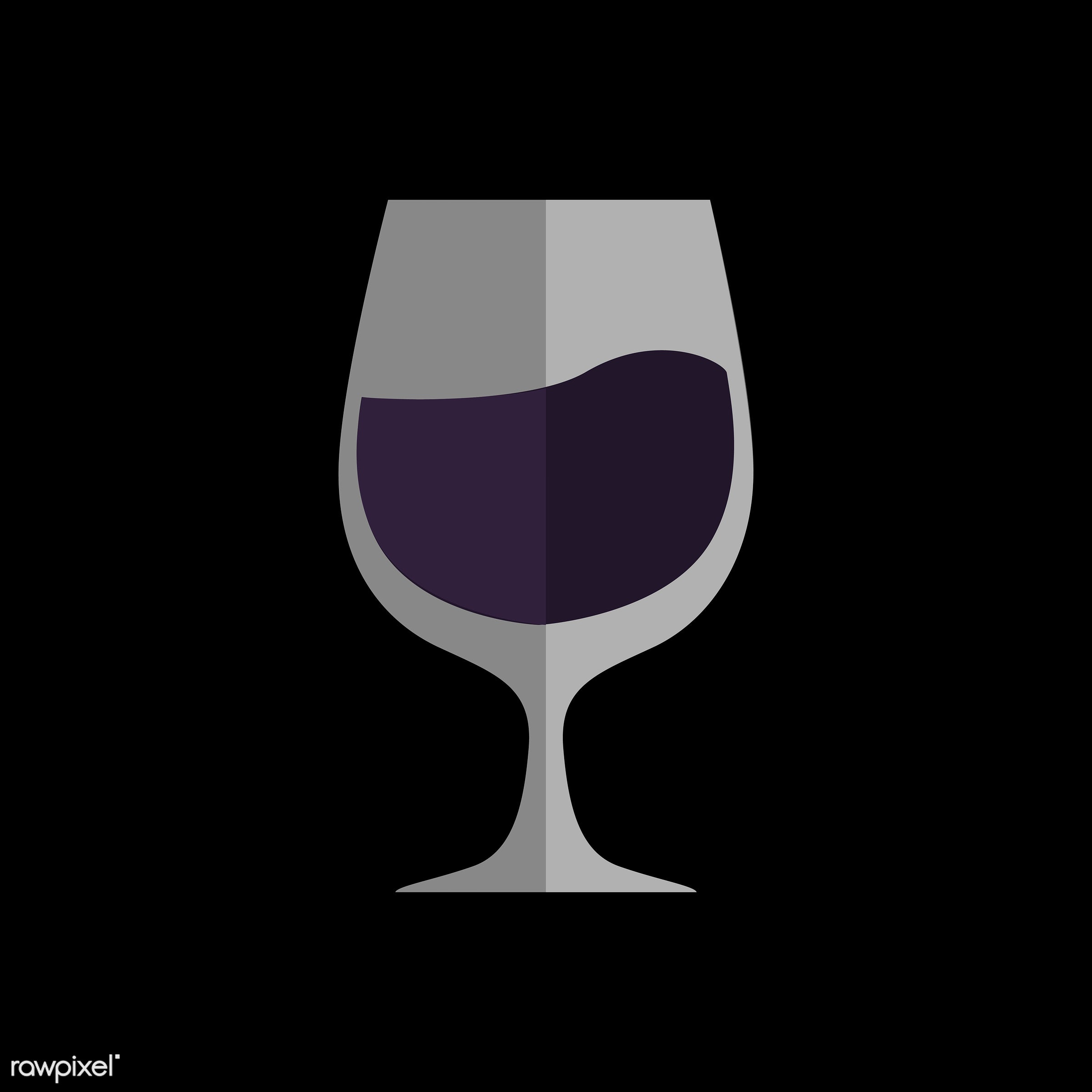 vector, graphic, illustration, icon, symbol, colorful, cute, drink, beverage, water, purple, liqueur, wine, glass
