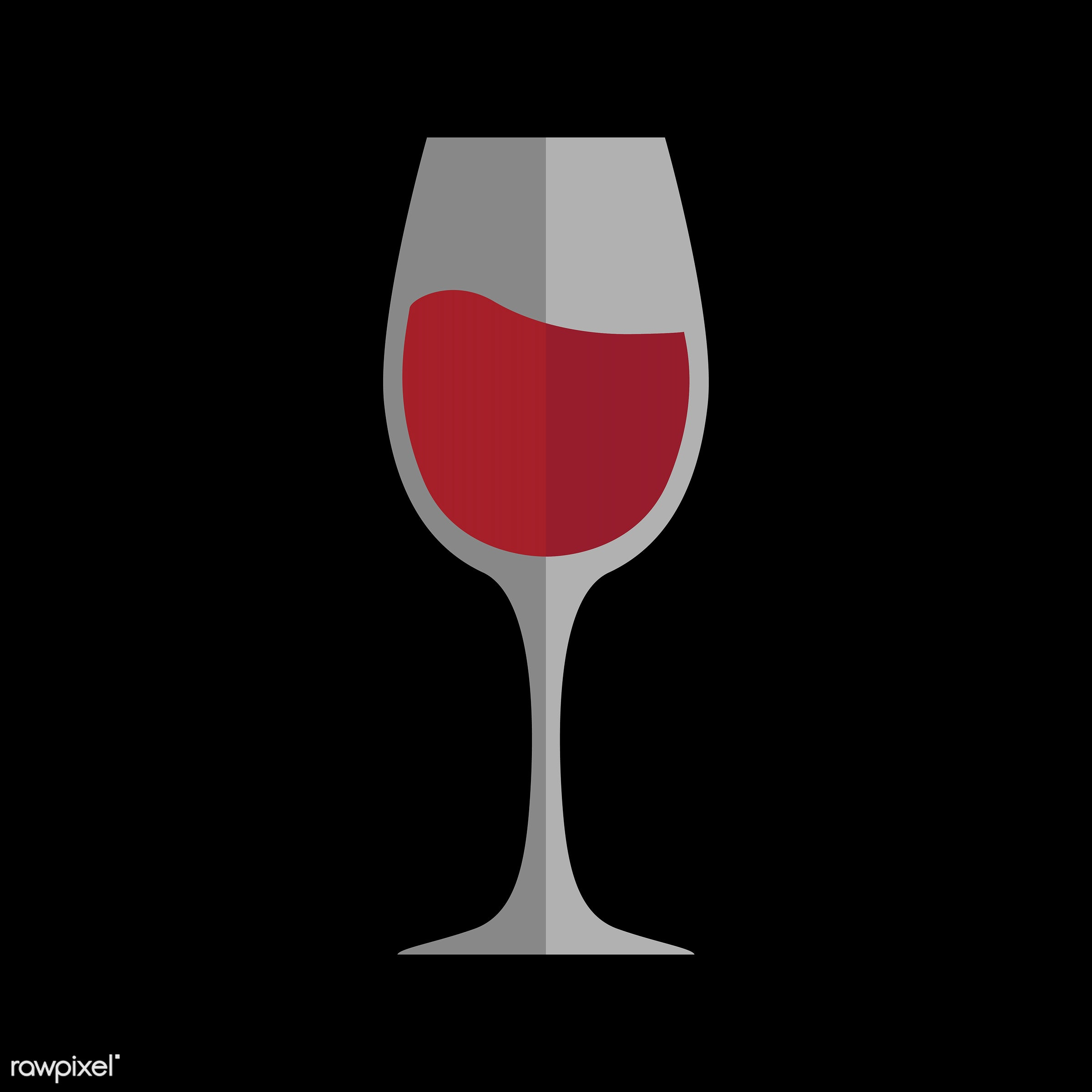 vector, graphic, illustration, icon, symbol, colorful, cute, drink, beverage, water, red wine, wine, wine glass, red,...