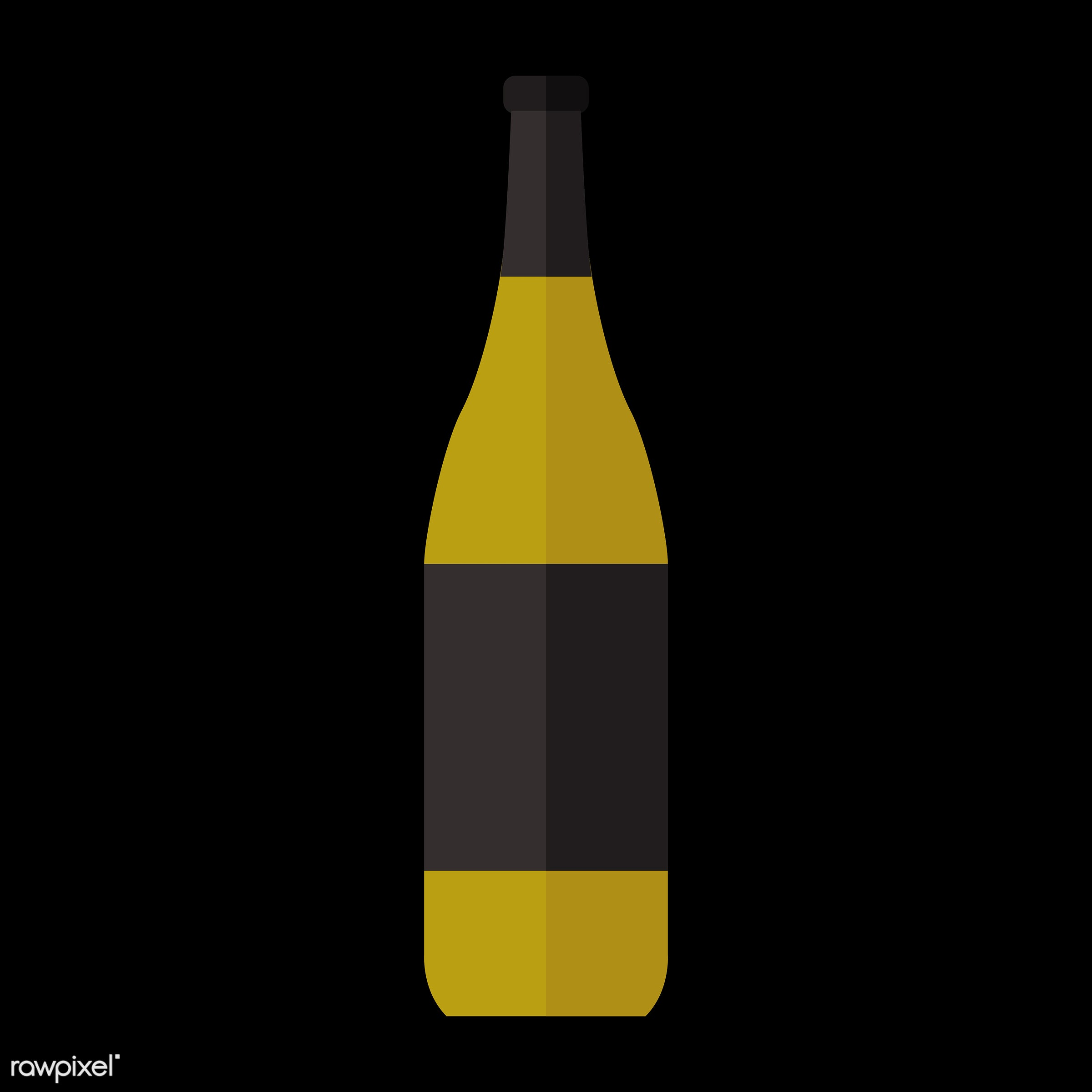 vector, graphic, illustration, icon, symbol, colorful, cute, drink, beverage, water, wine, red wine, white wine, wine bottle