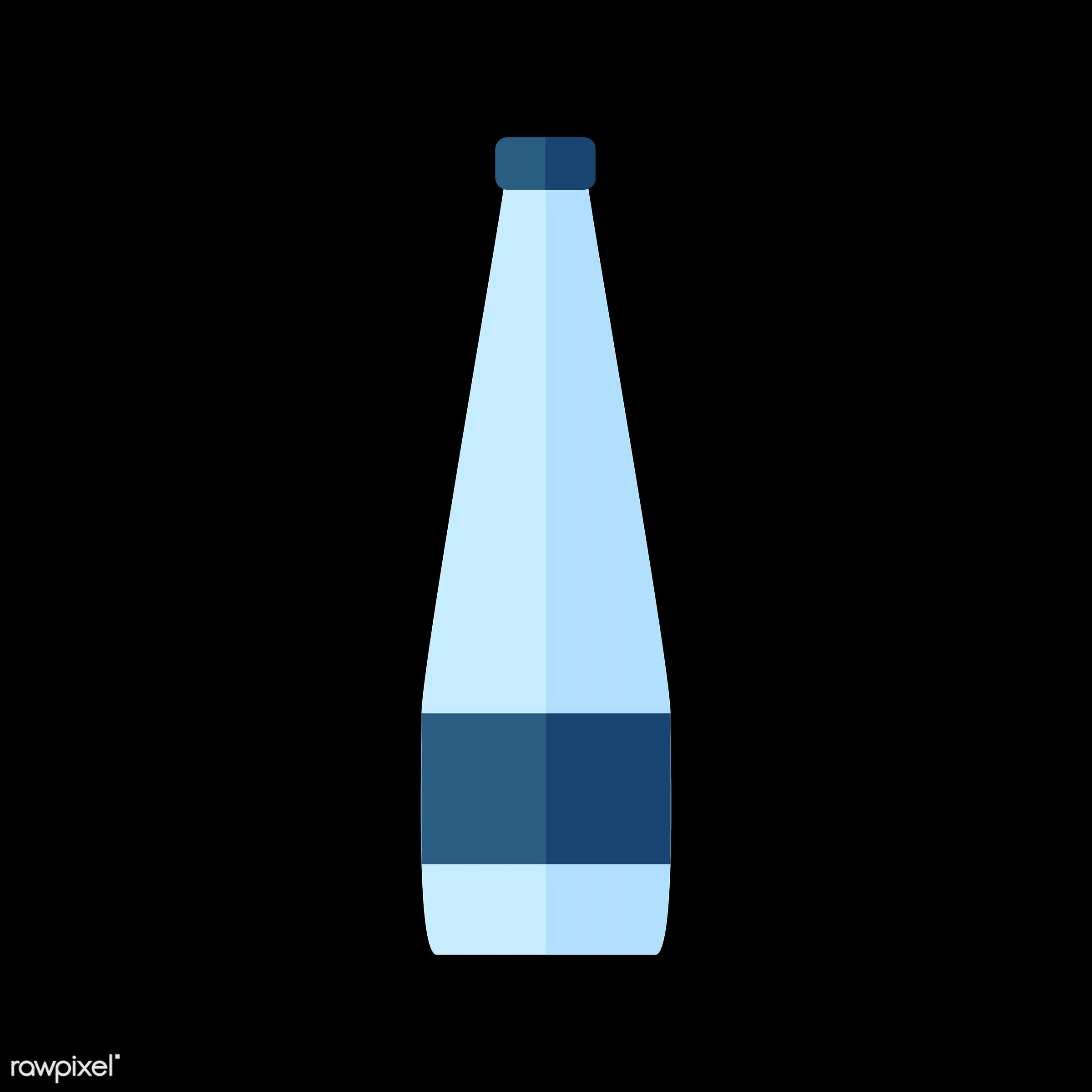 vector, graphic, illustration, icon, symbol, colorful, cute, drink, beverage, water, water bottle, glass bottle, mineral...