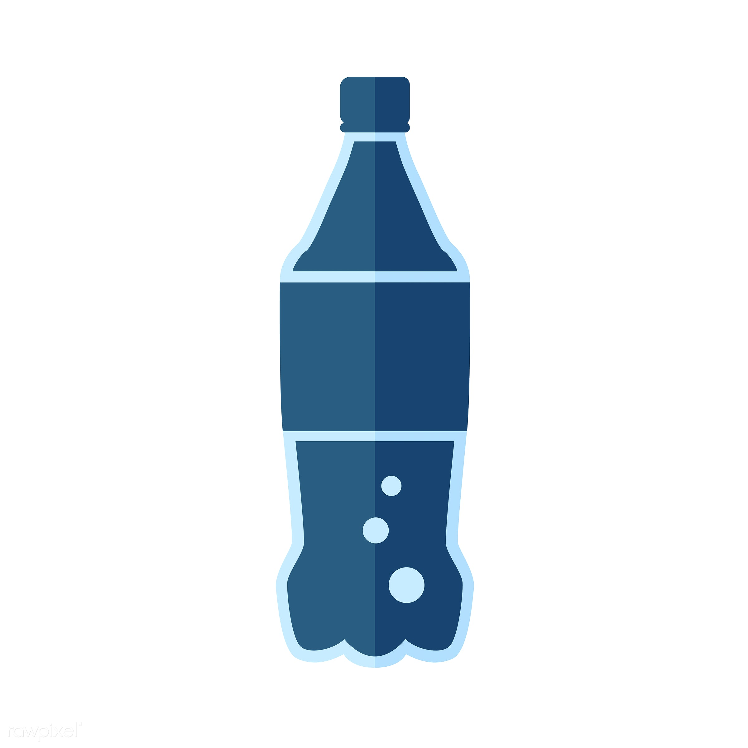 Soda bottle vector - vector, graphic, illustration, icon, symbol, colorful, cute, drink, beverage, water, soda, bottle, soda...