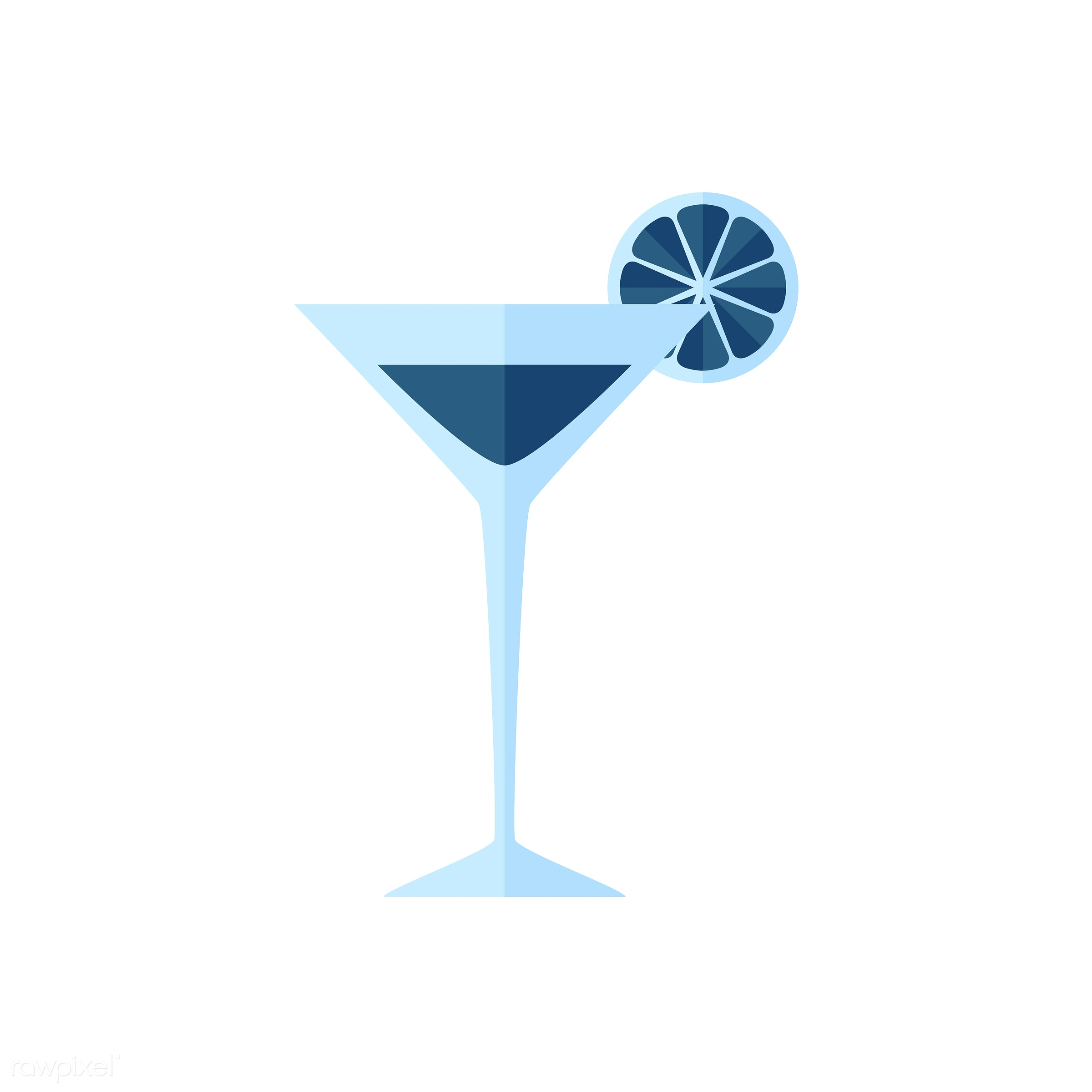 vector, graphic, illustration, icon, symbol, colorful, cute, cocktail, mocktail, blue, drink, beverage, water