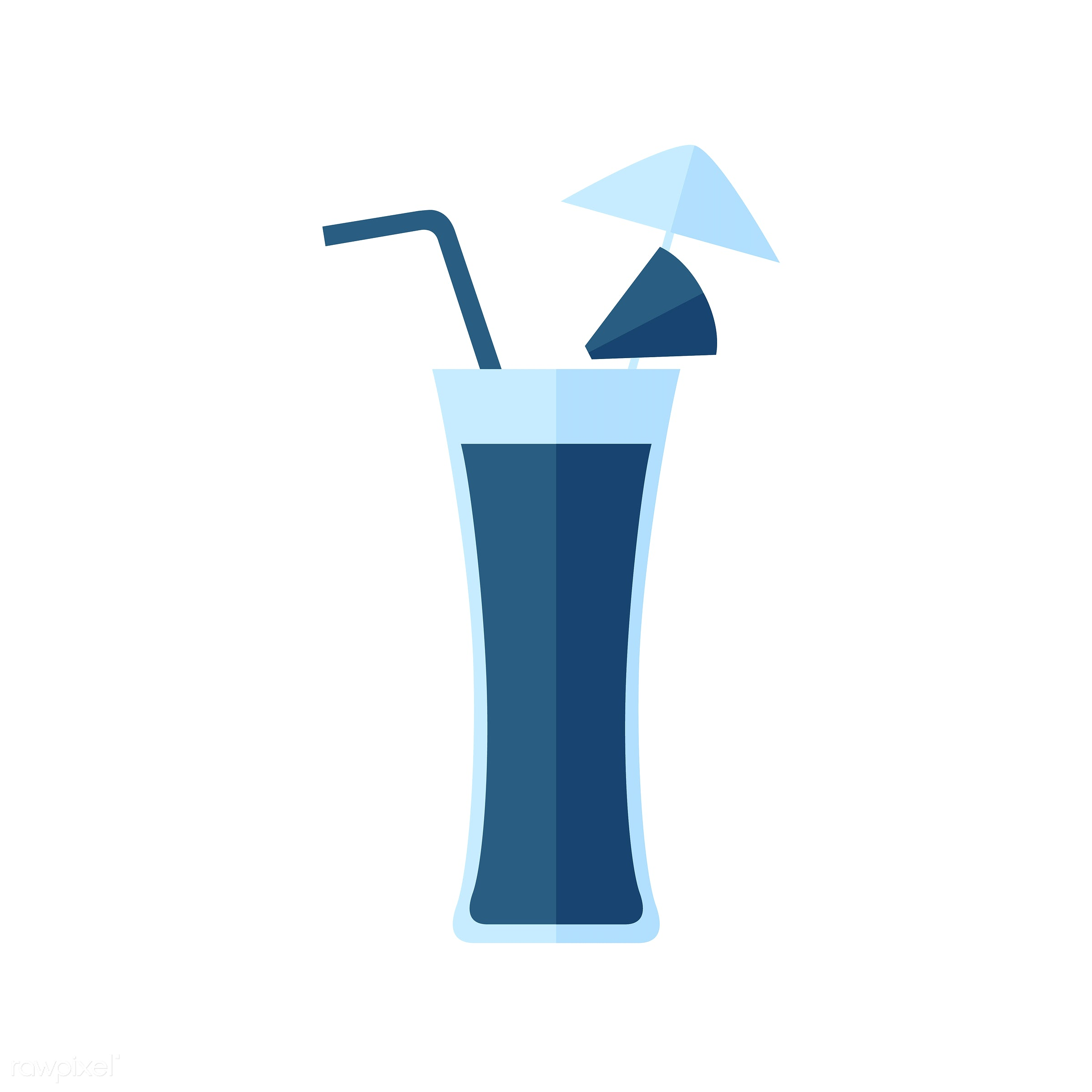 Umbrella cocktail vector - vector, graphic, illustration, icon, symbol, colorful, cute, drink, beverage, water, cocktail,...