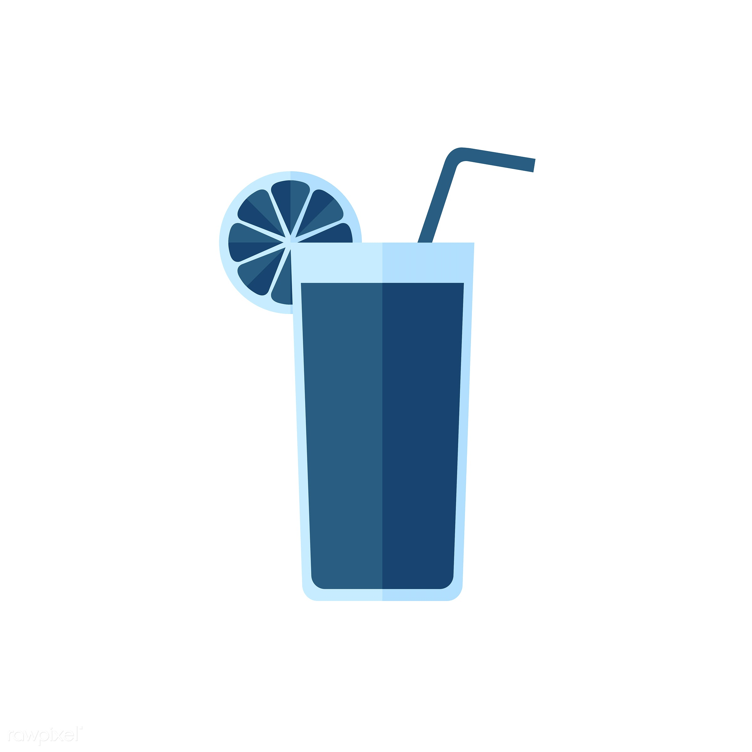 Blue orange juice vector - vector, graphic, illustration, icon, symbol, colorful, cute, drink, beverage, water, orange juice...
