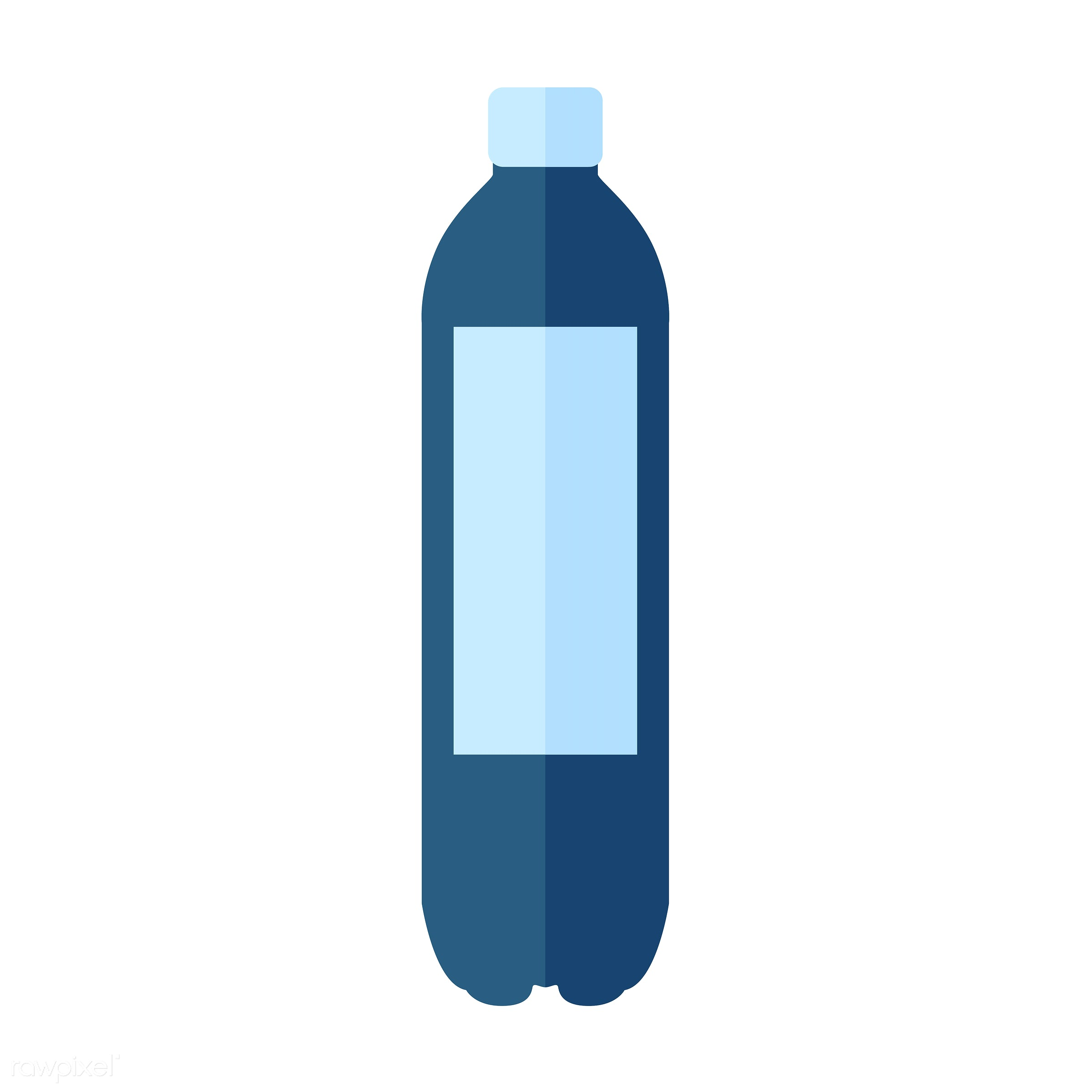 vector, graphic, illustration, icon, symbol, colorful, cute, drink, beverage, water, blue, plastic bottle