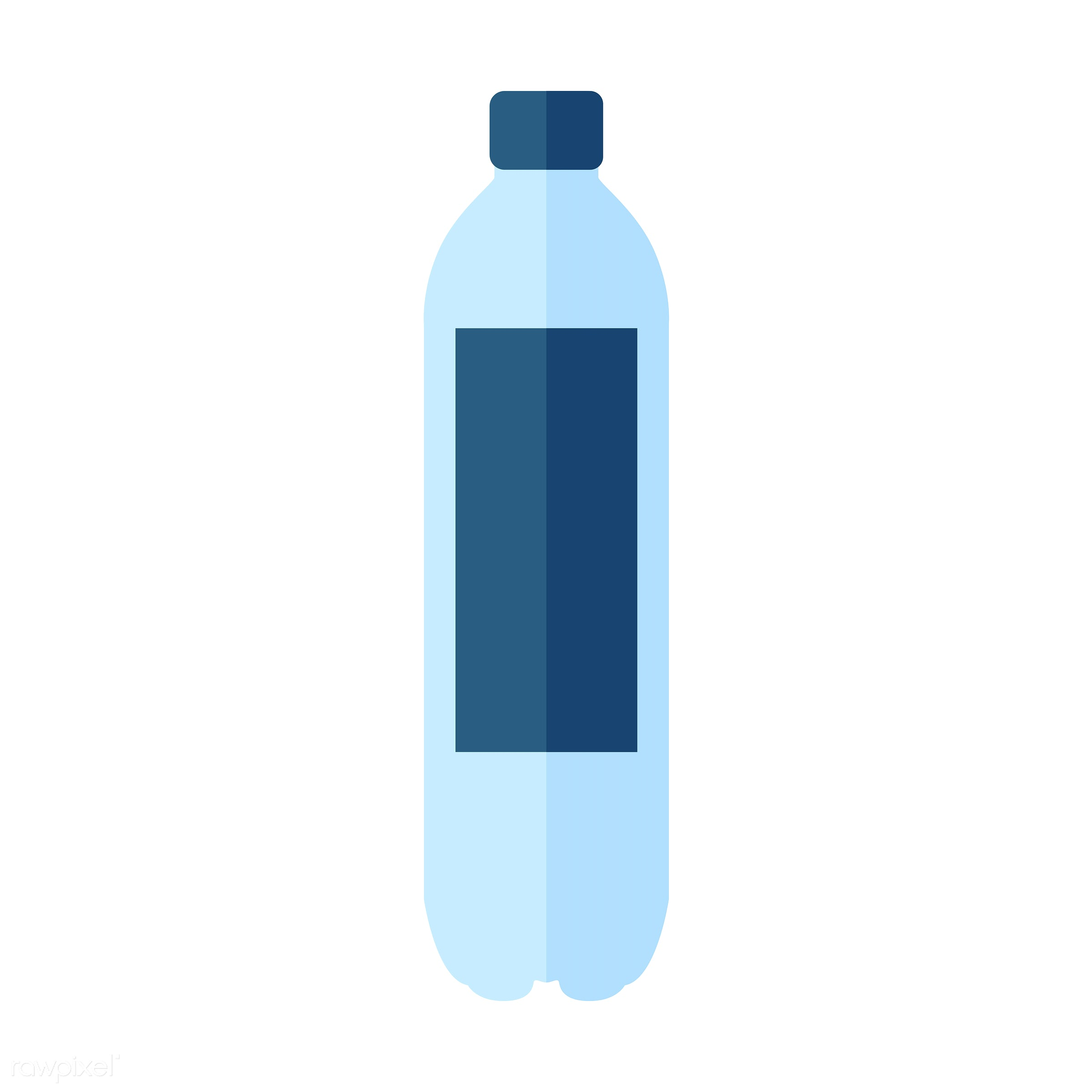vector, graphic, illustration, icon, symbol, colorful, cute, drink, beverage, water, blue, plastic bottle, water bottle