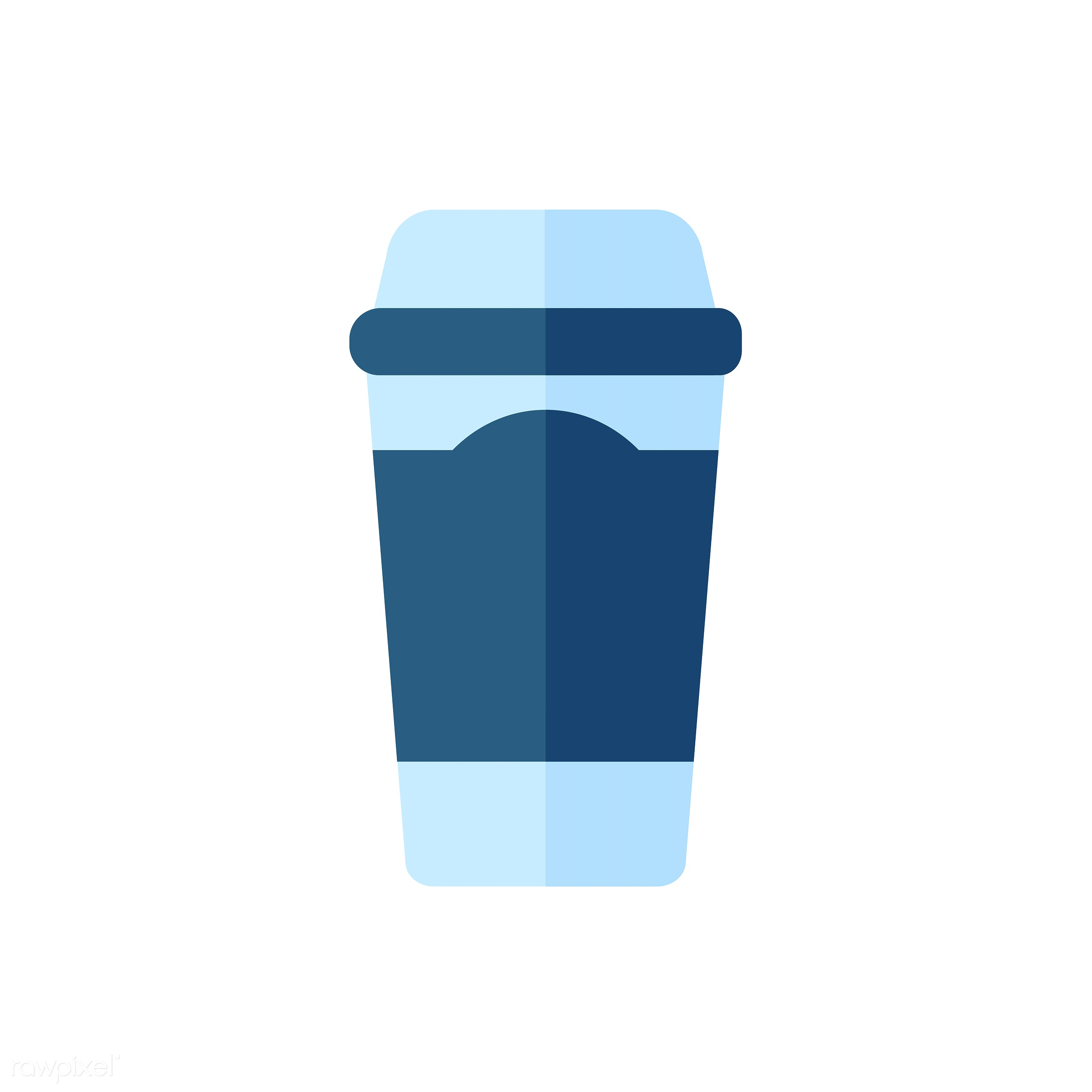 vector, graphic, illustration, icon, symbol, colorful, cute, drink, beverage, water, blue, takeaway cup, takeaway mug,...