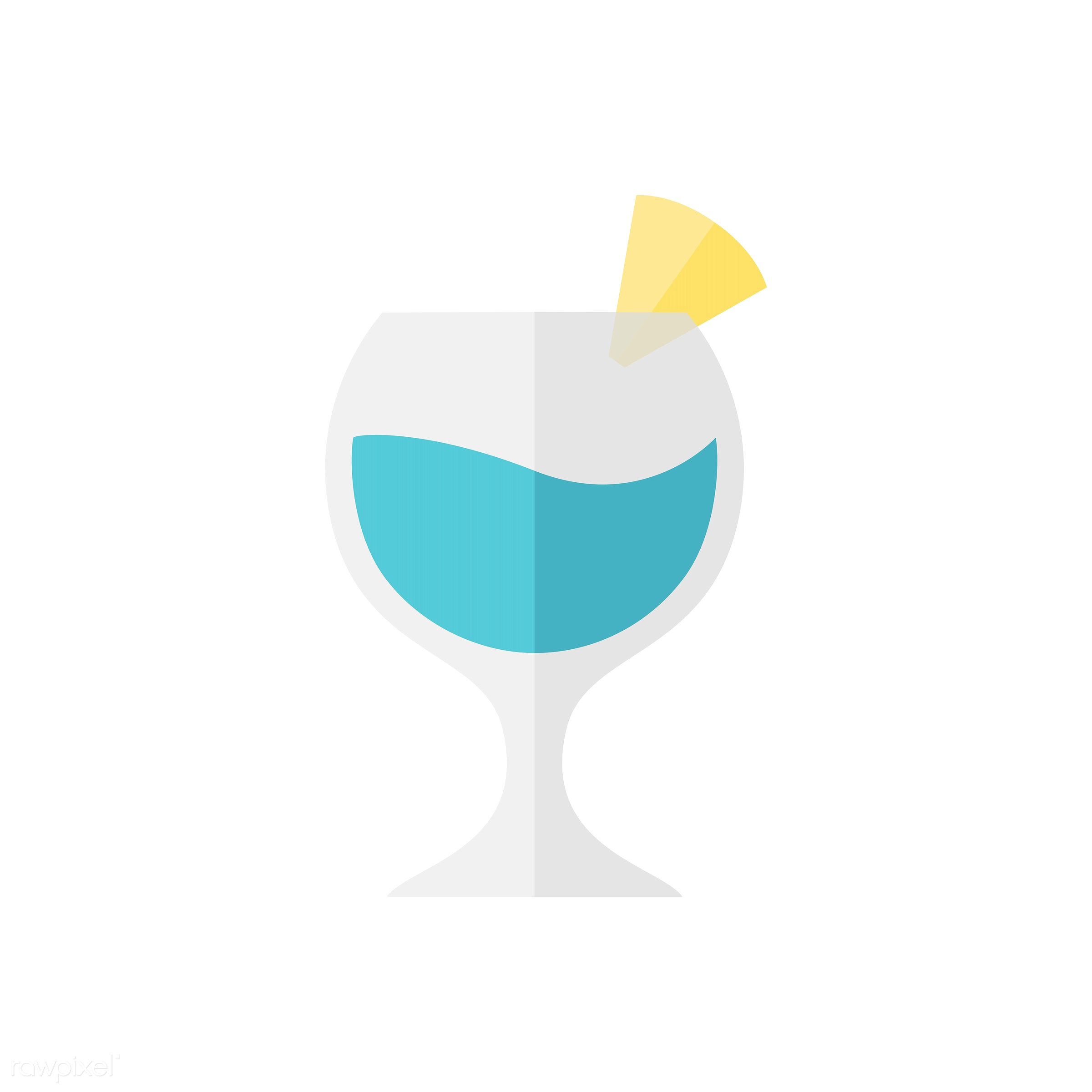 Cocktail vector - cocktail, alcohol, beverage, blue, colorful, cute, drink, graphic, icon, illustration, lemon, mocktail,...