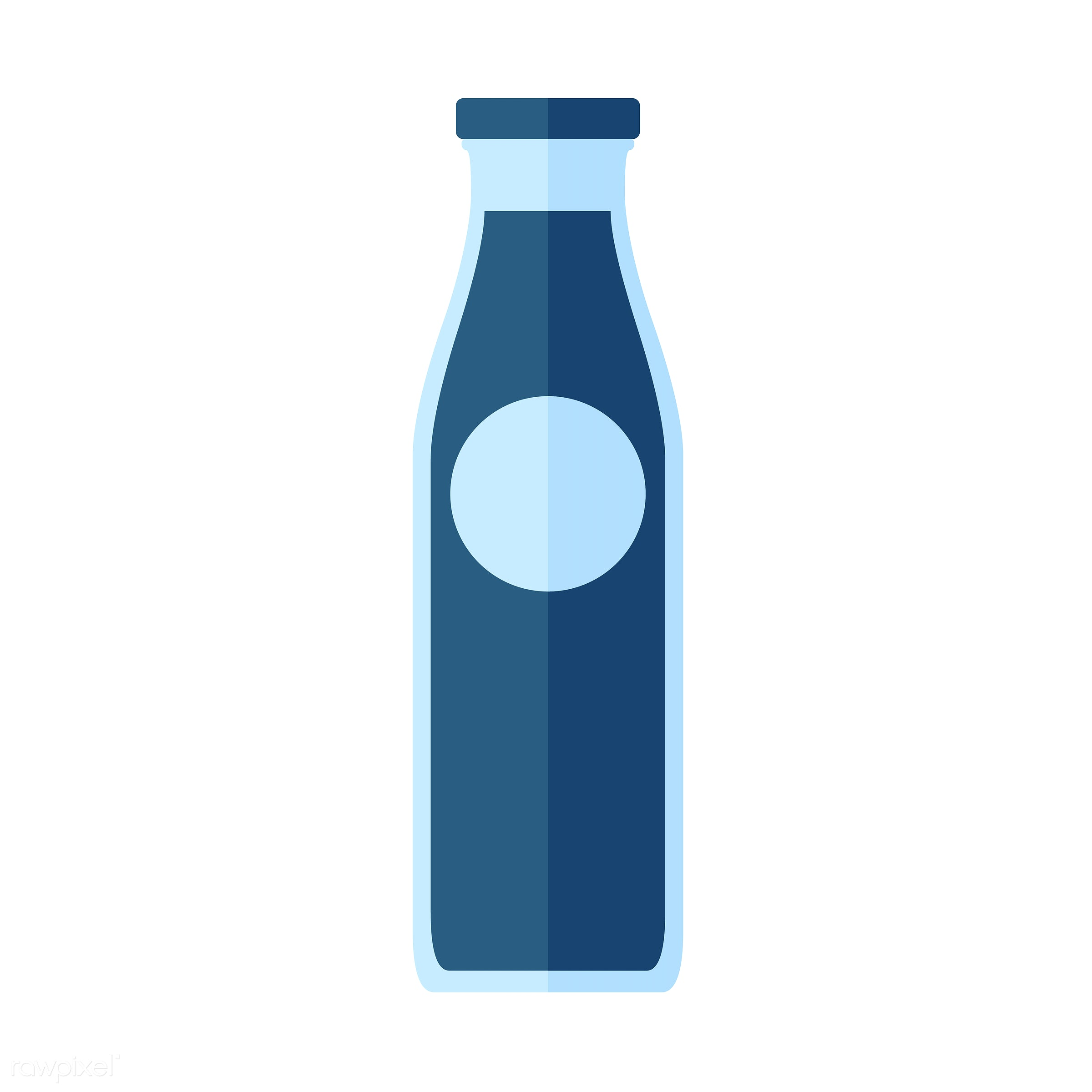 vector, graphic, illustration, icon, symbol, colorful, cute, drink, beverage, water, blue, glass bottle