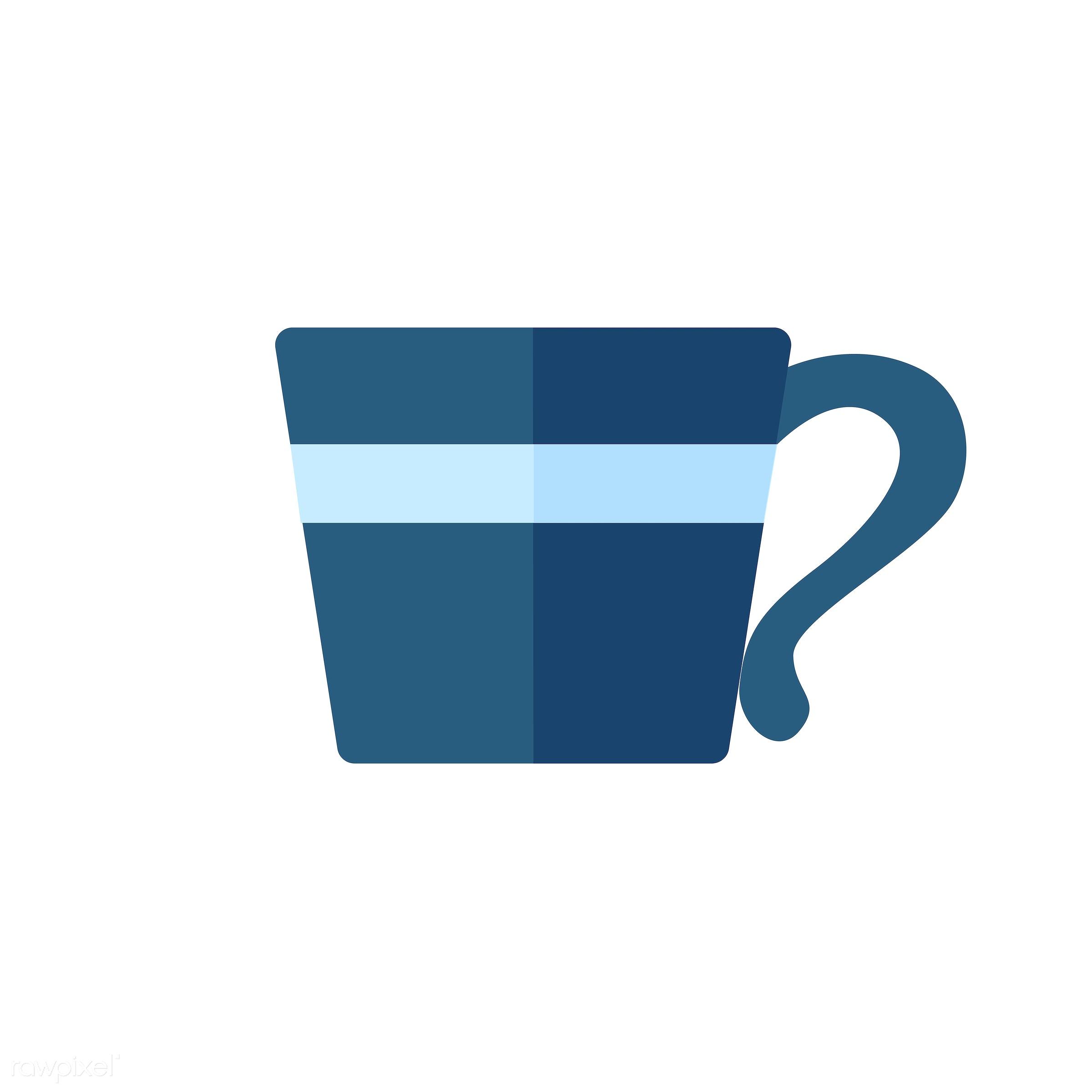 vector, graphic, illustration, icon, symbol, colorful, cute, mug, tea, tea cup, hot drink, drink, beverage, water, blue,...