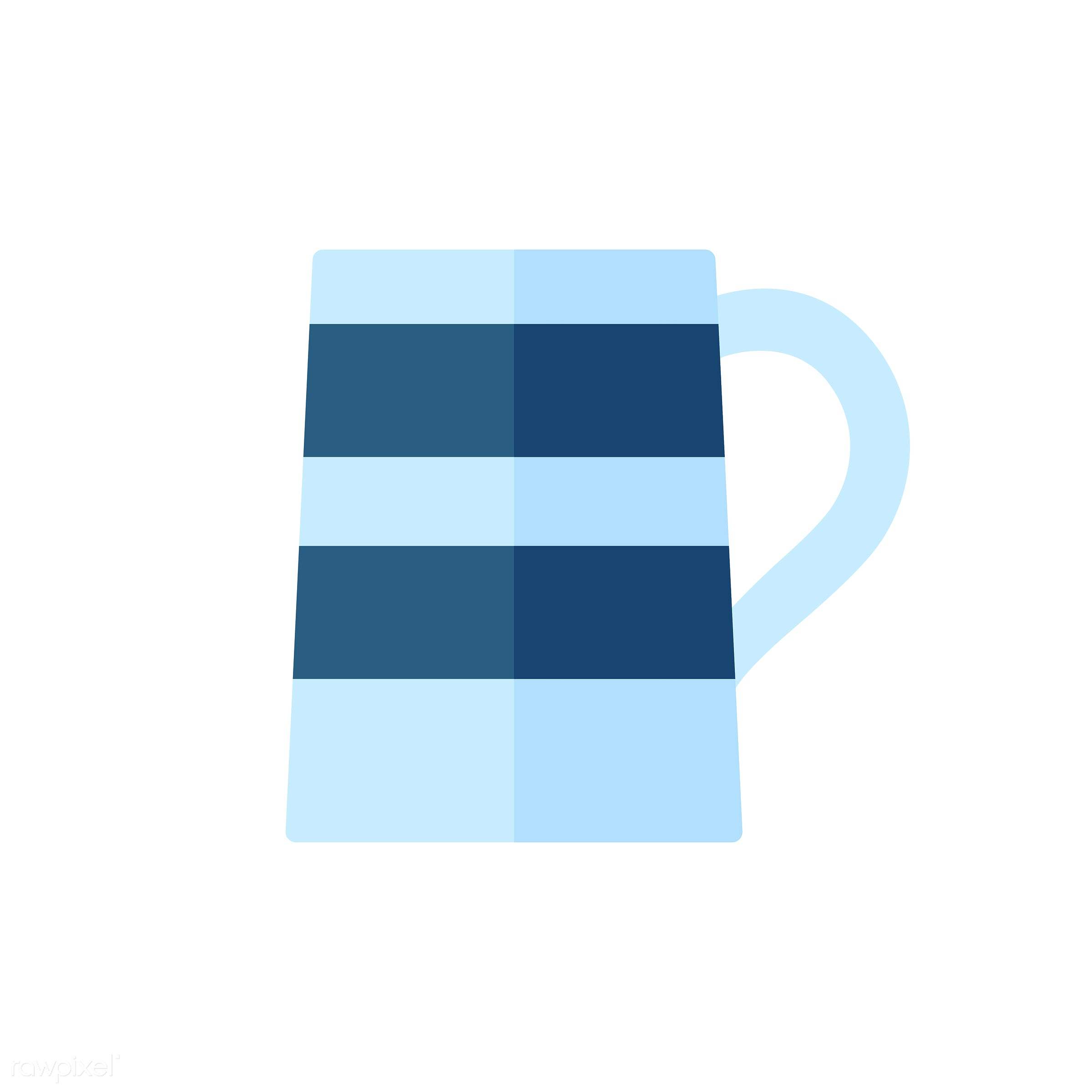 vector, graphic, illustration, icon, symbol, colorful, cute, drink, beverage, water, blue, mug