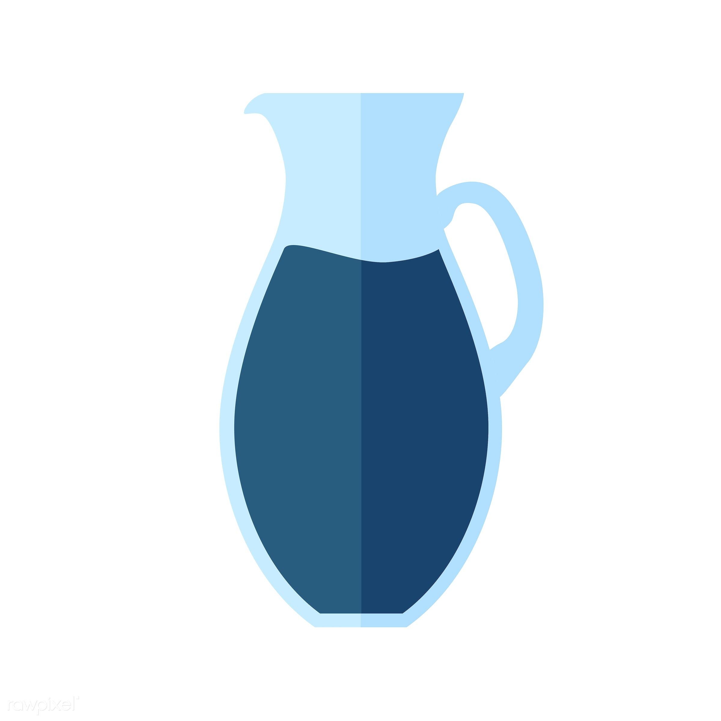 vector, graphic, illustration, icon, symbol, colorful, cute, drink, beverage, water, blue, lemonade, juice, jug