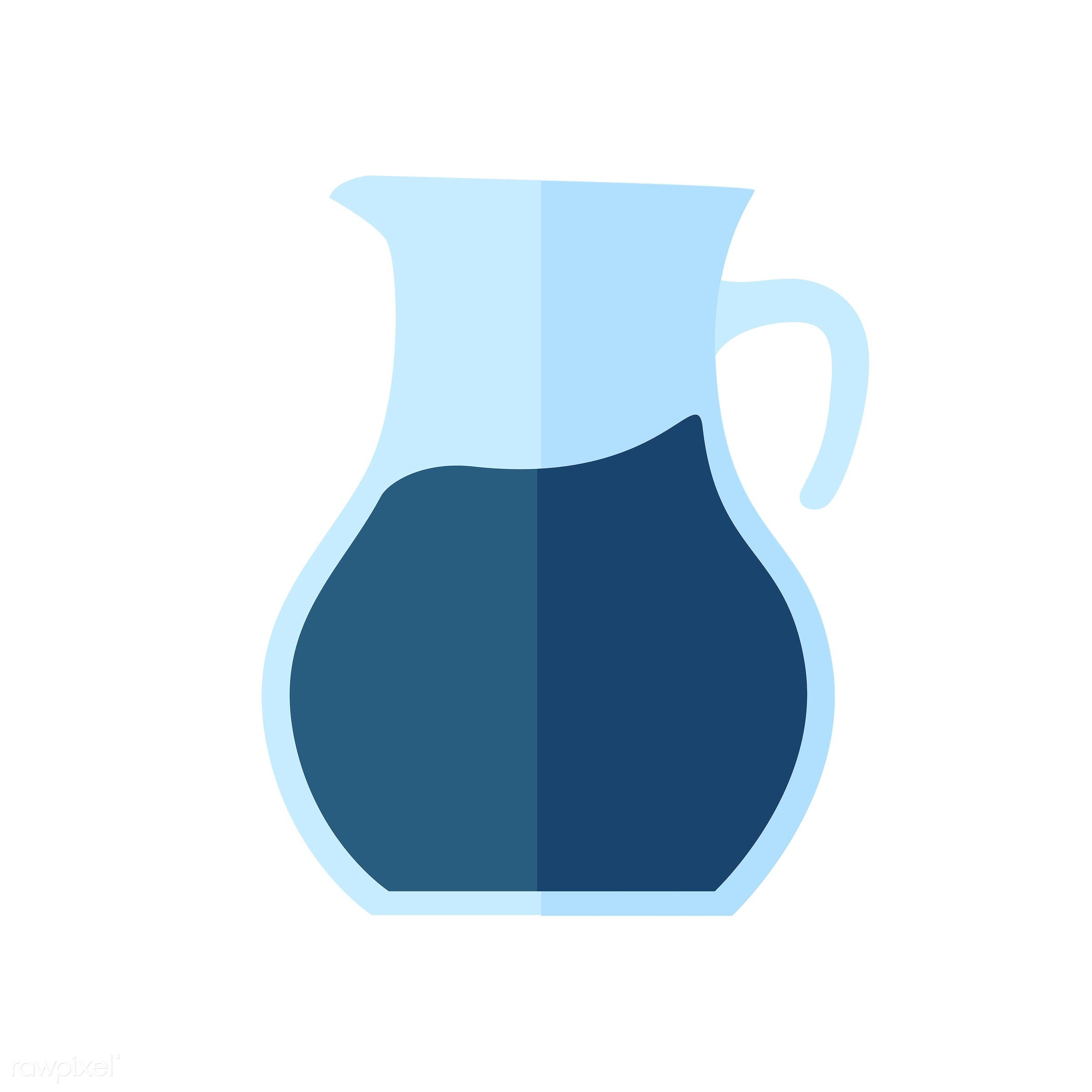vector, graphic, illustration, icon, symbol, colorful, cute, drink, beverage, water, blue, jug, lemonade