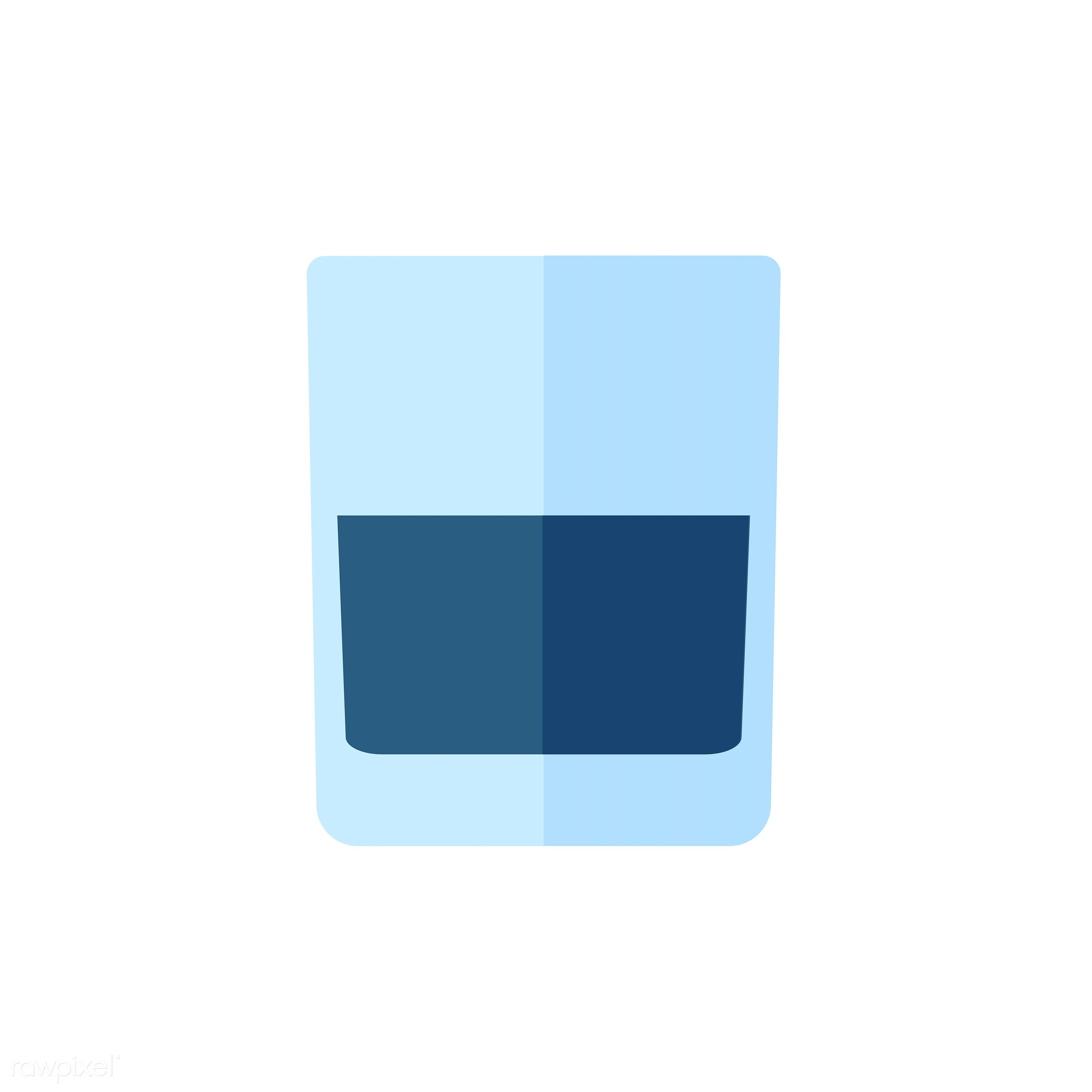 vector, graphic, illustration, icon, symbol, colorful, cute, drink, beverage, water, blue, water glass
