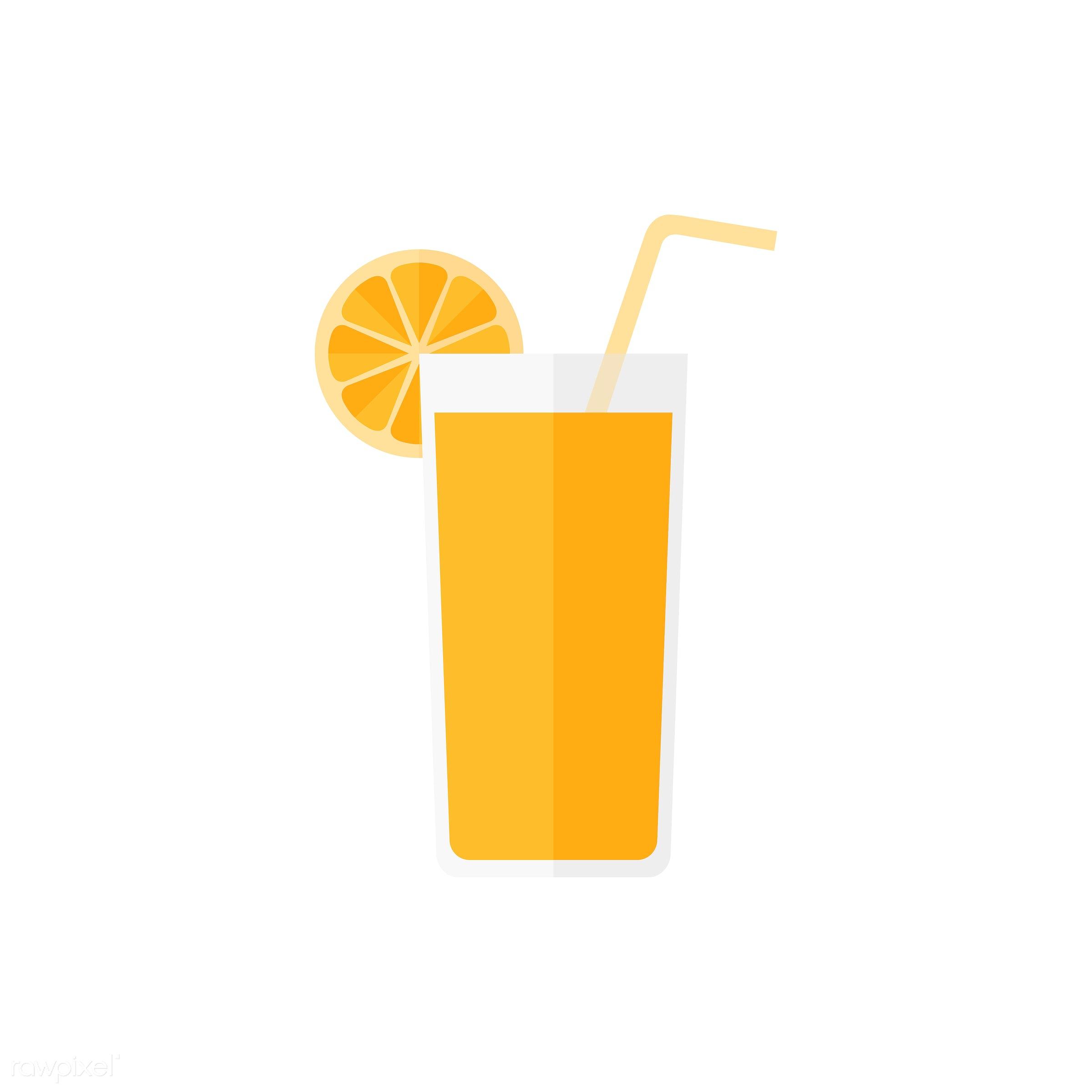Orange juice vector - vector, graphic, illustration, icon, symbol, colorful, cute, drink, beverage, water, orange juice,...