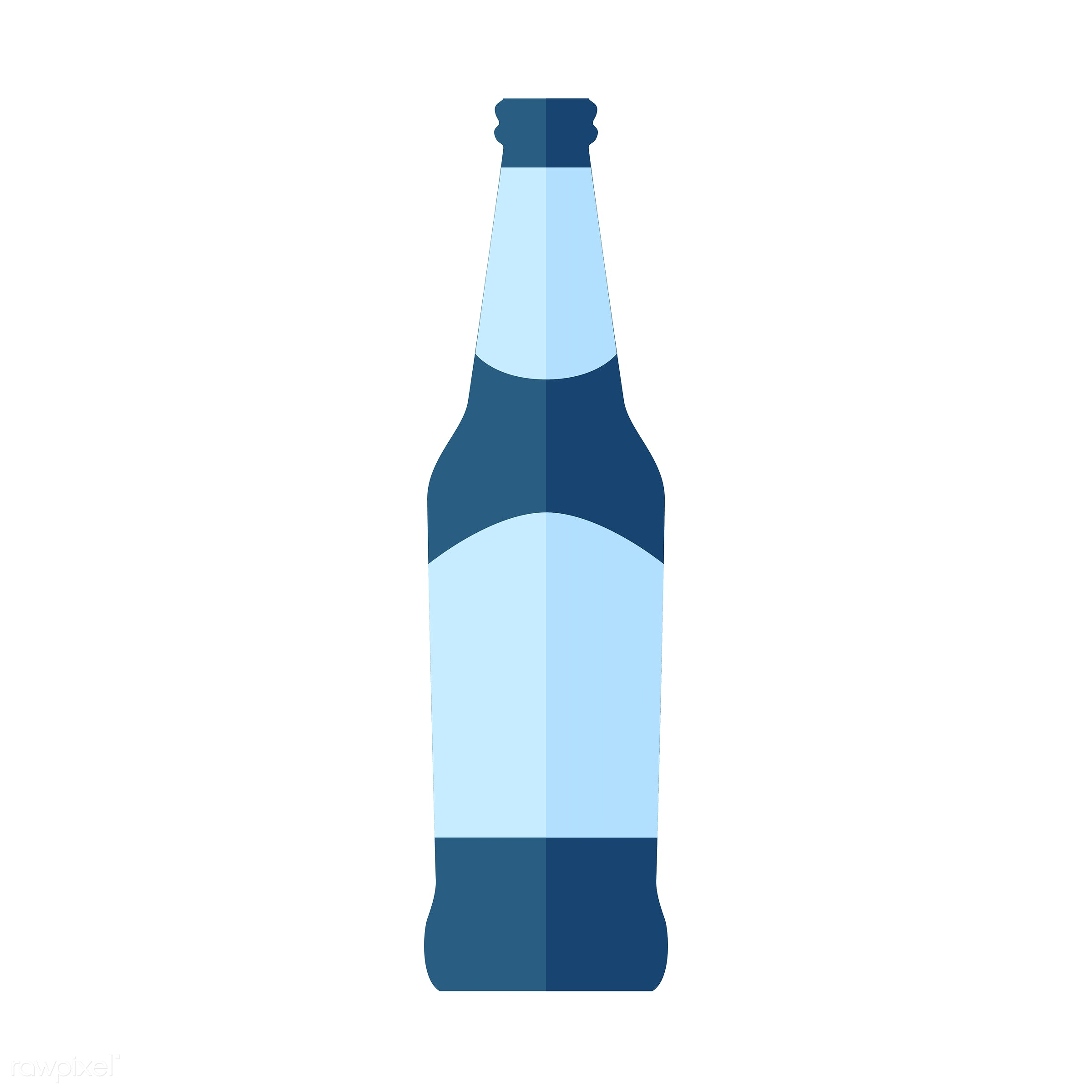 vector, graphic, illustration, icon, symbol, colorful, cute, drink, beverage, water, blue, beer, beer bottle, glass bottle