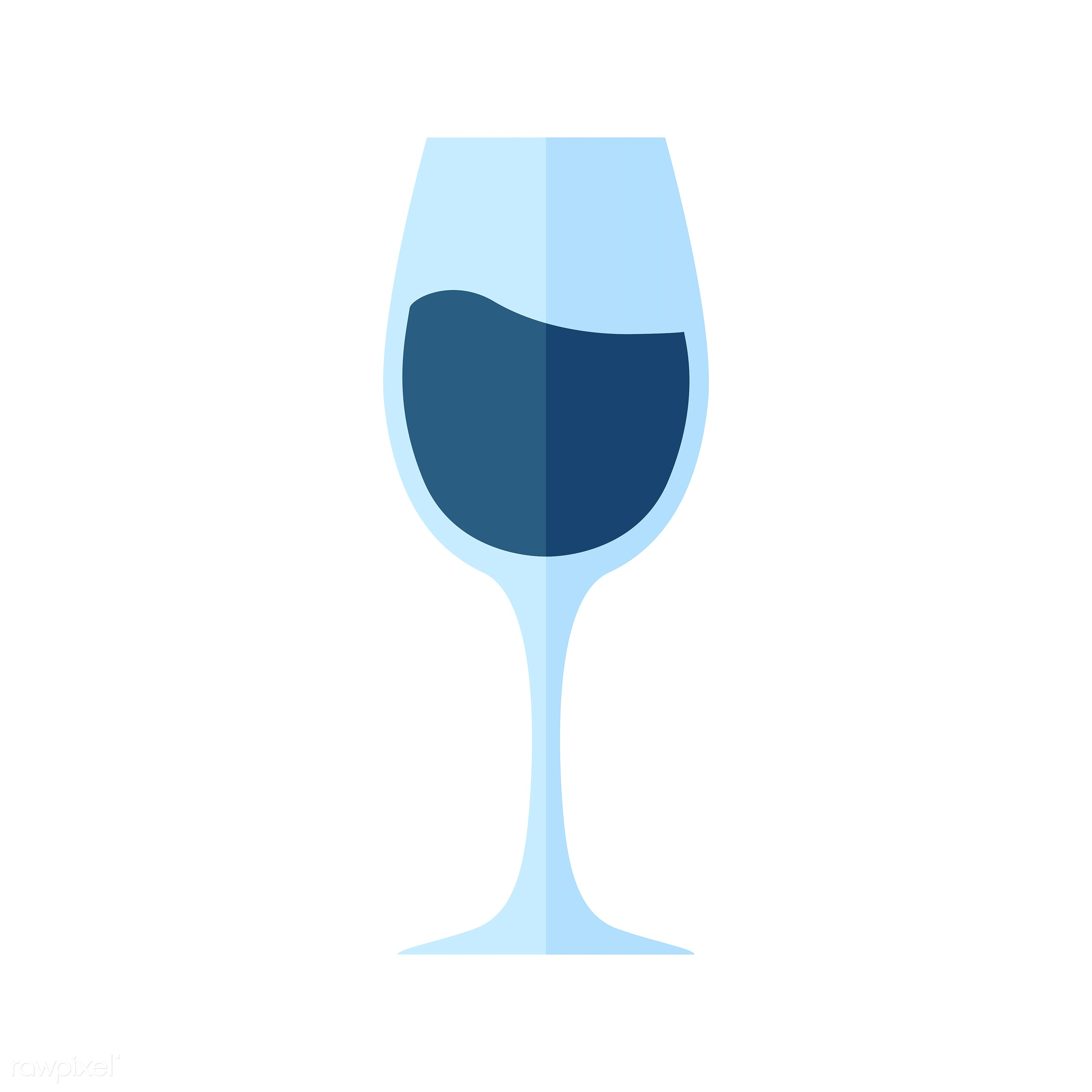 vector, graphic, illustration, icon, symbol, colorful, cute, drink, beverage, water, blue, wine, wine glass, white wine