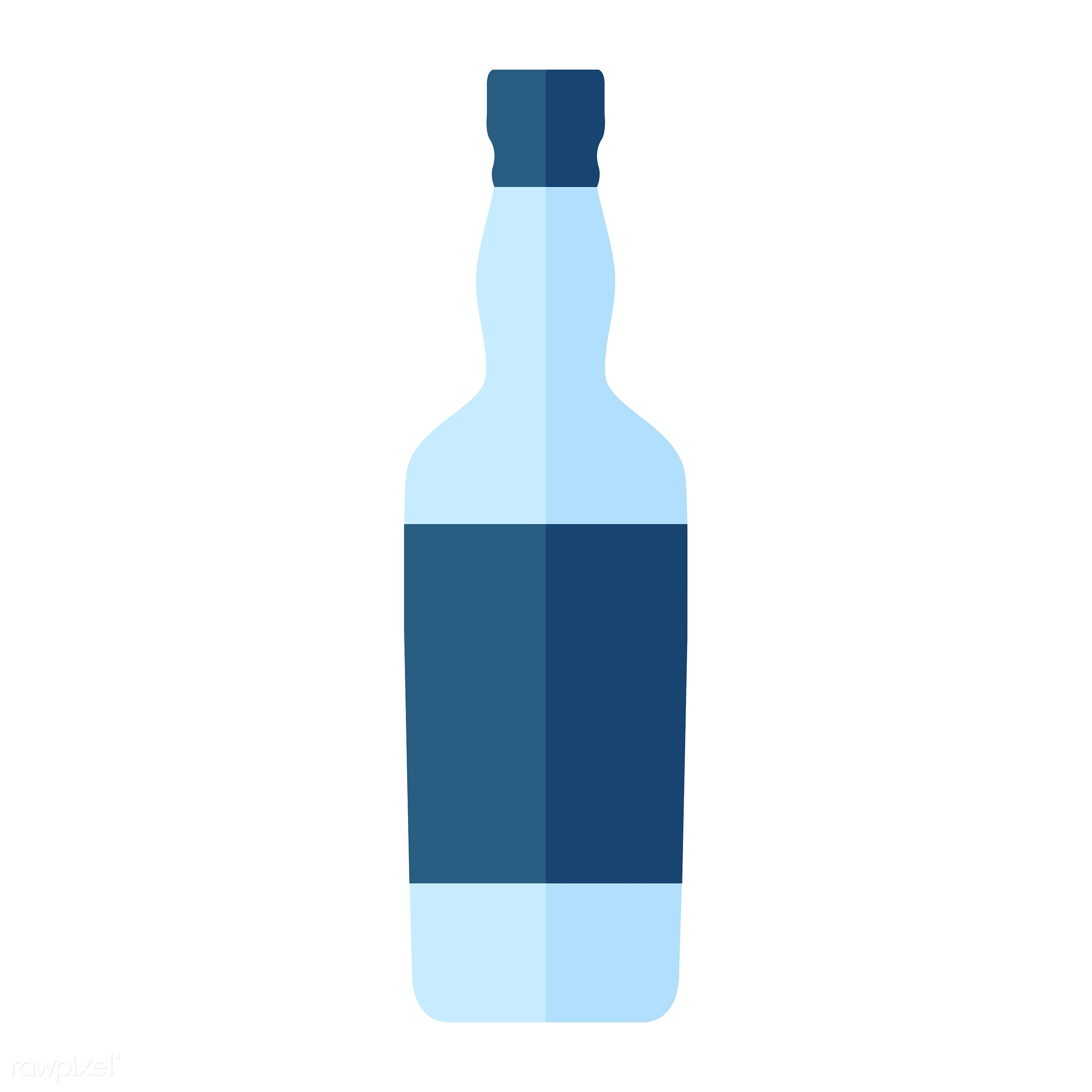 Liquor bottle vector - vector, graphic, illustration, icon, symbol, colorful, cute, drink, beverage, water, liquor, vodka,...