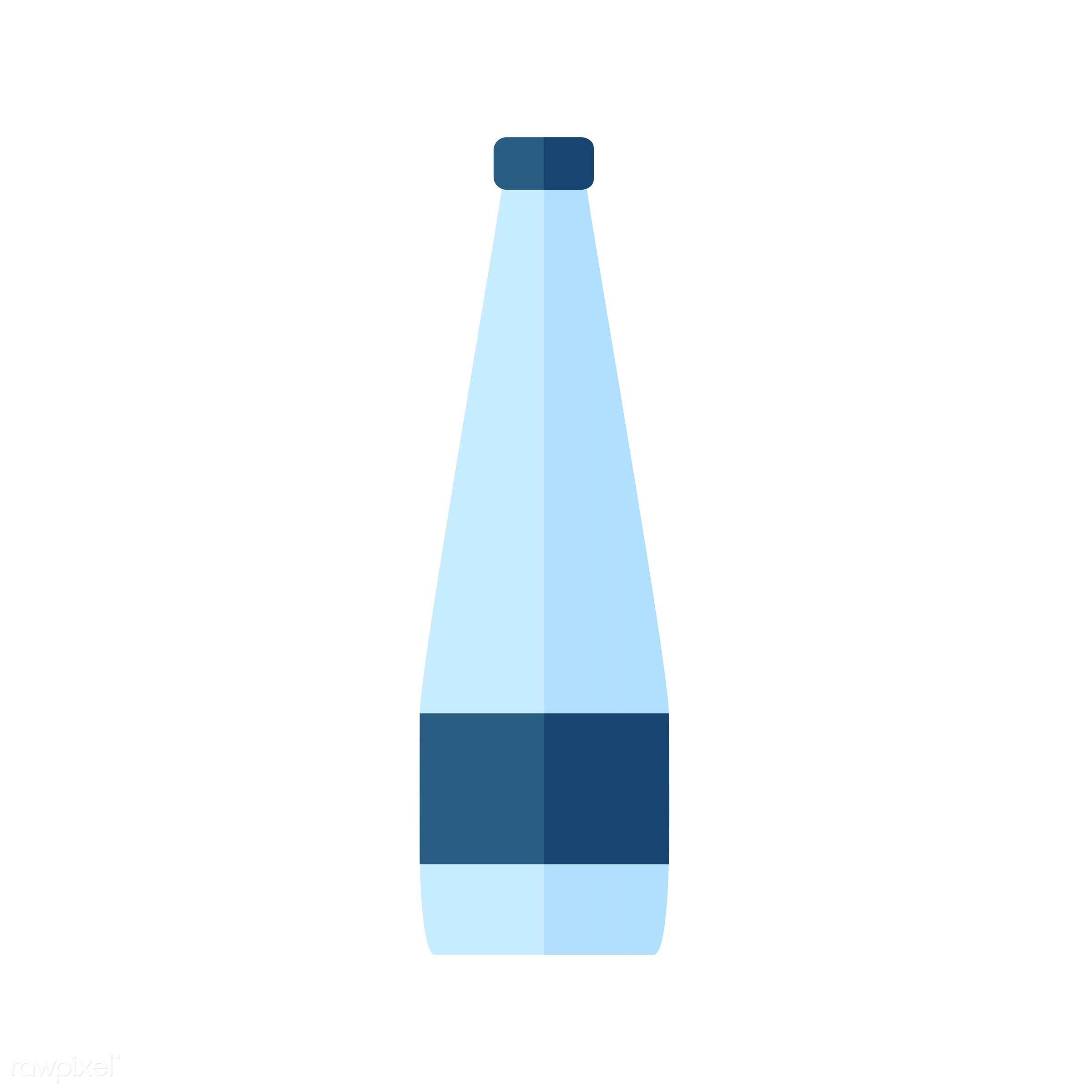vector, graphic, illustration, icon, symbol, colorful, cute, drink, beverage, water, blue, glass bottle, water bottle