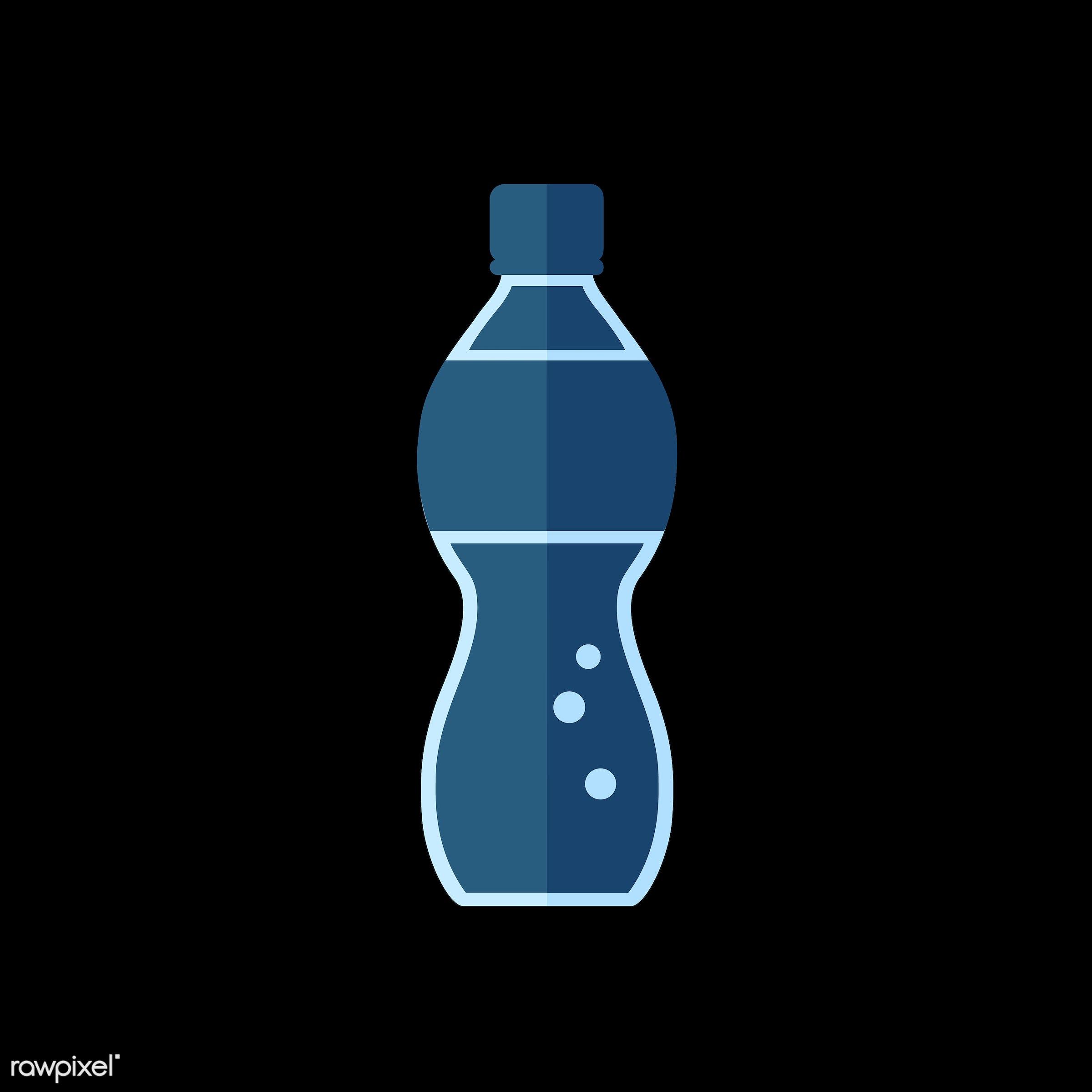 Soda bottle vector - vector, graphic, illustration, icon, symbol, colorful, cute, drink, beverage, water, soda, soda bottle...