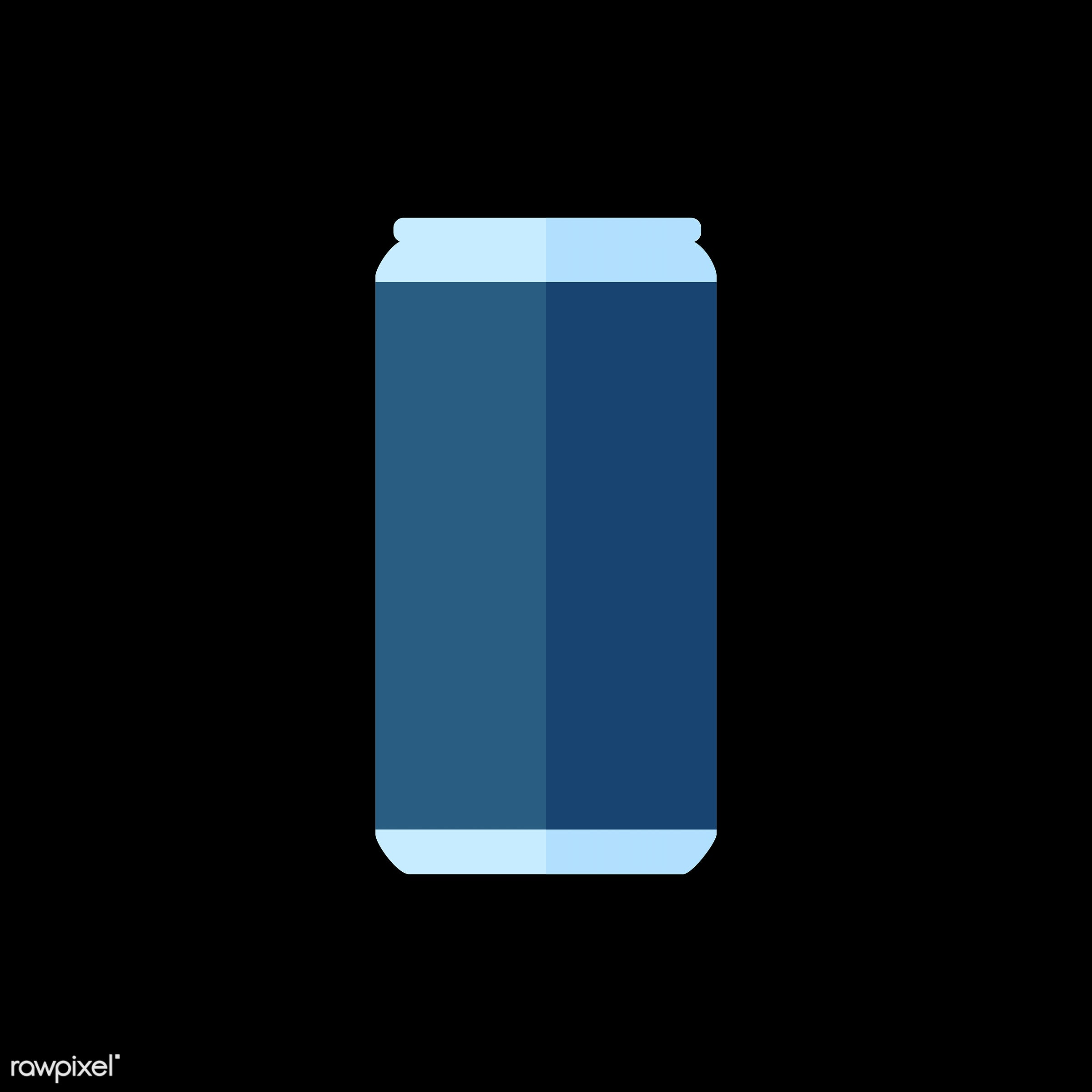 vector, graphic, illustration, icon, symbol, colorful, cute, drink, beverage, water, can, beer can, soda can, blue