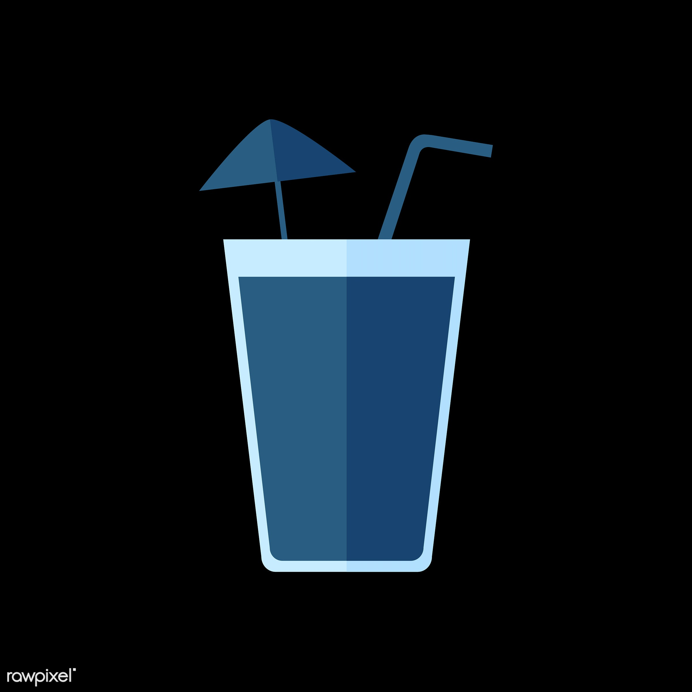 vector, graphic, illustration, icon, symbol, colorful, cute, drink, beverage, water, blue