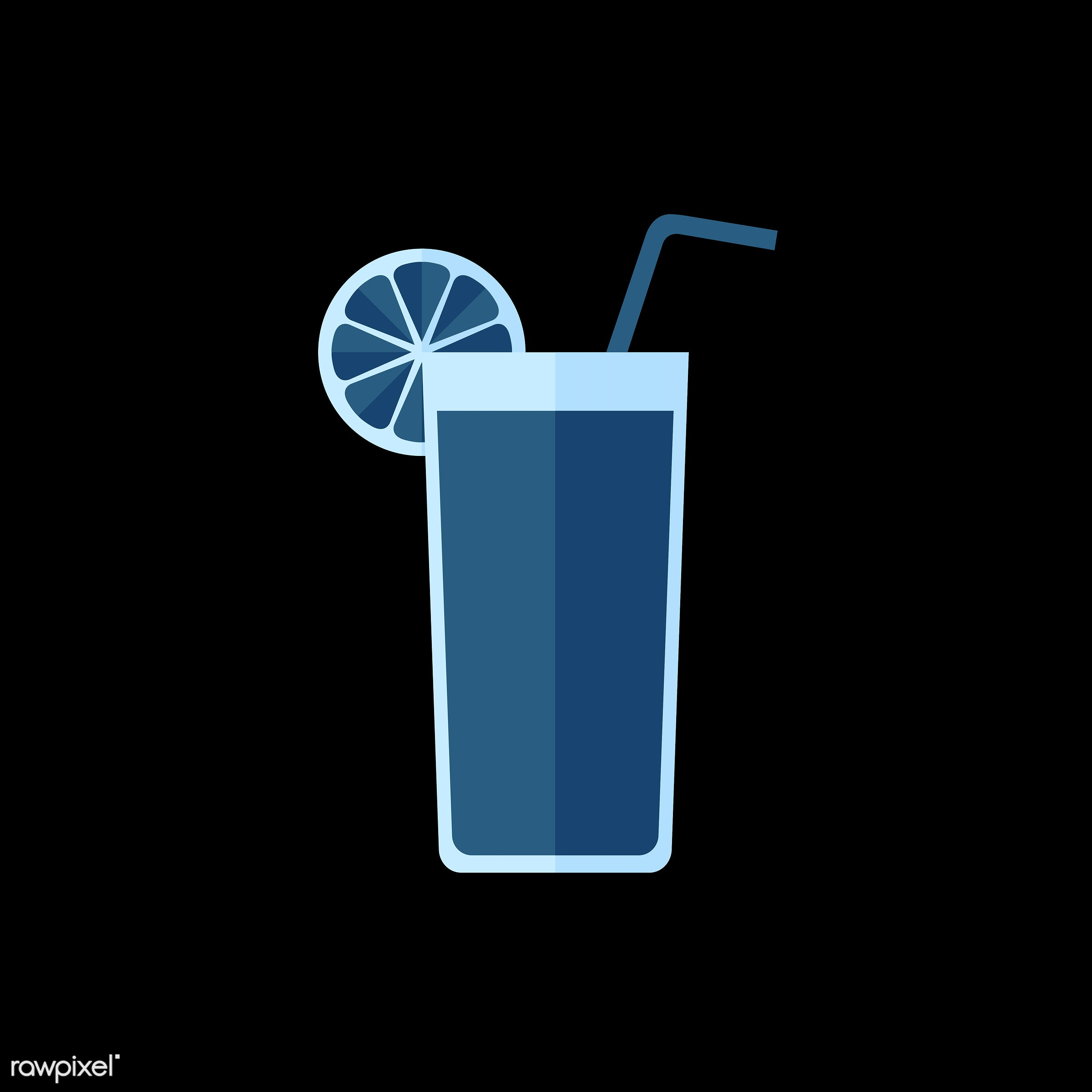 vector, graphic, illustration, icon, symbol, colorful, cute, drink, beverage, water, cocktail, mocktail, alcohol, party, blue