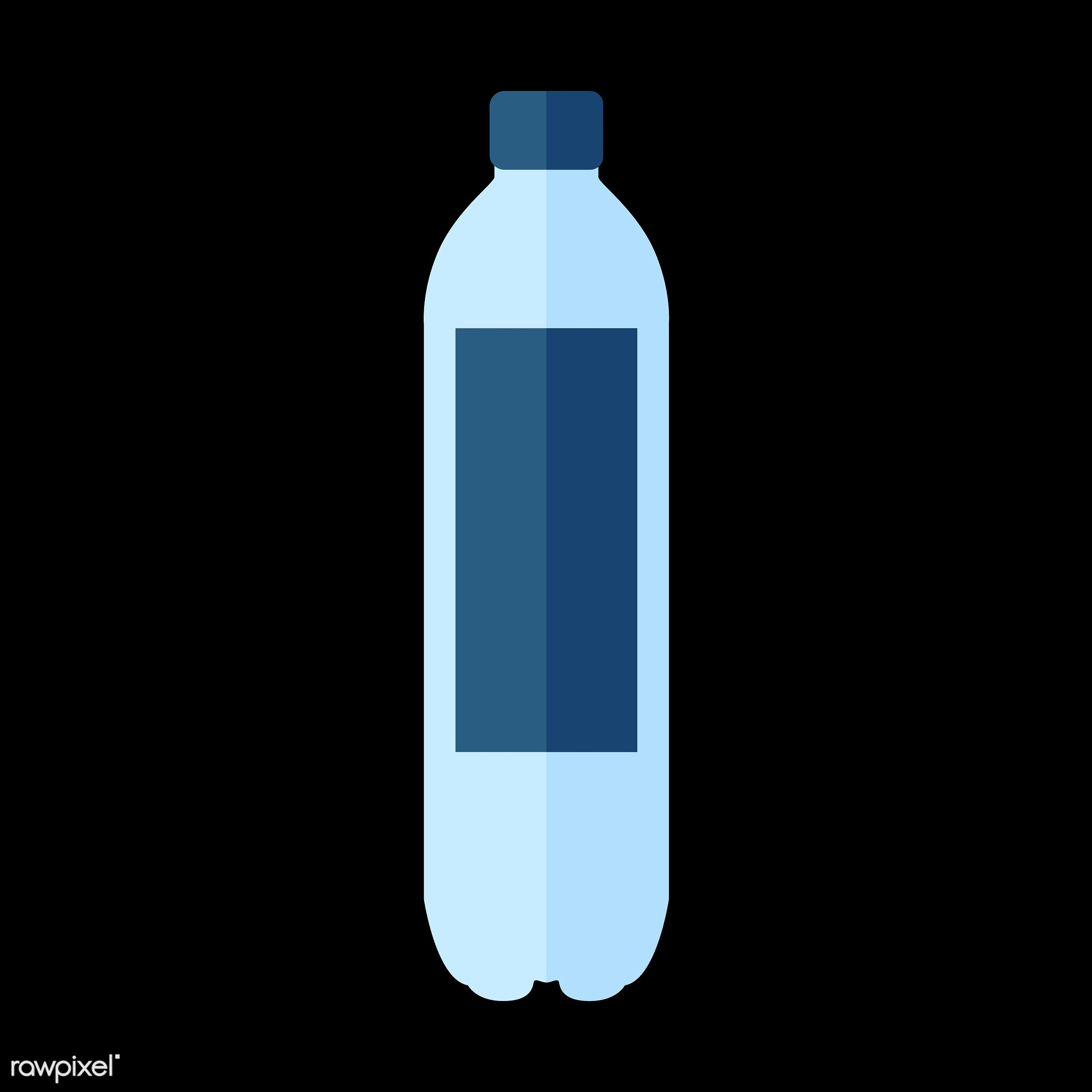 vector, graphic, illustration, icon, symbol, colorful, cute, drink, beverage, water, blue, plastic bottle, soda, sports drink
