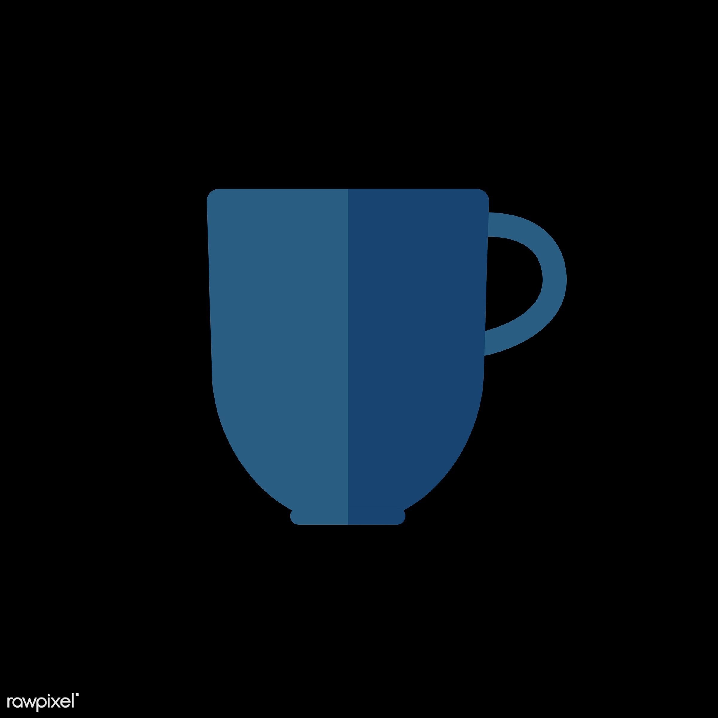 vector, graphic, illustration, icon, symbol, colorful, cute, drink, beverage, water, blue, cup, mug, coffee, coffee cup