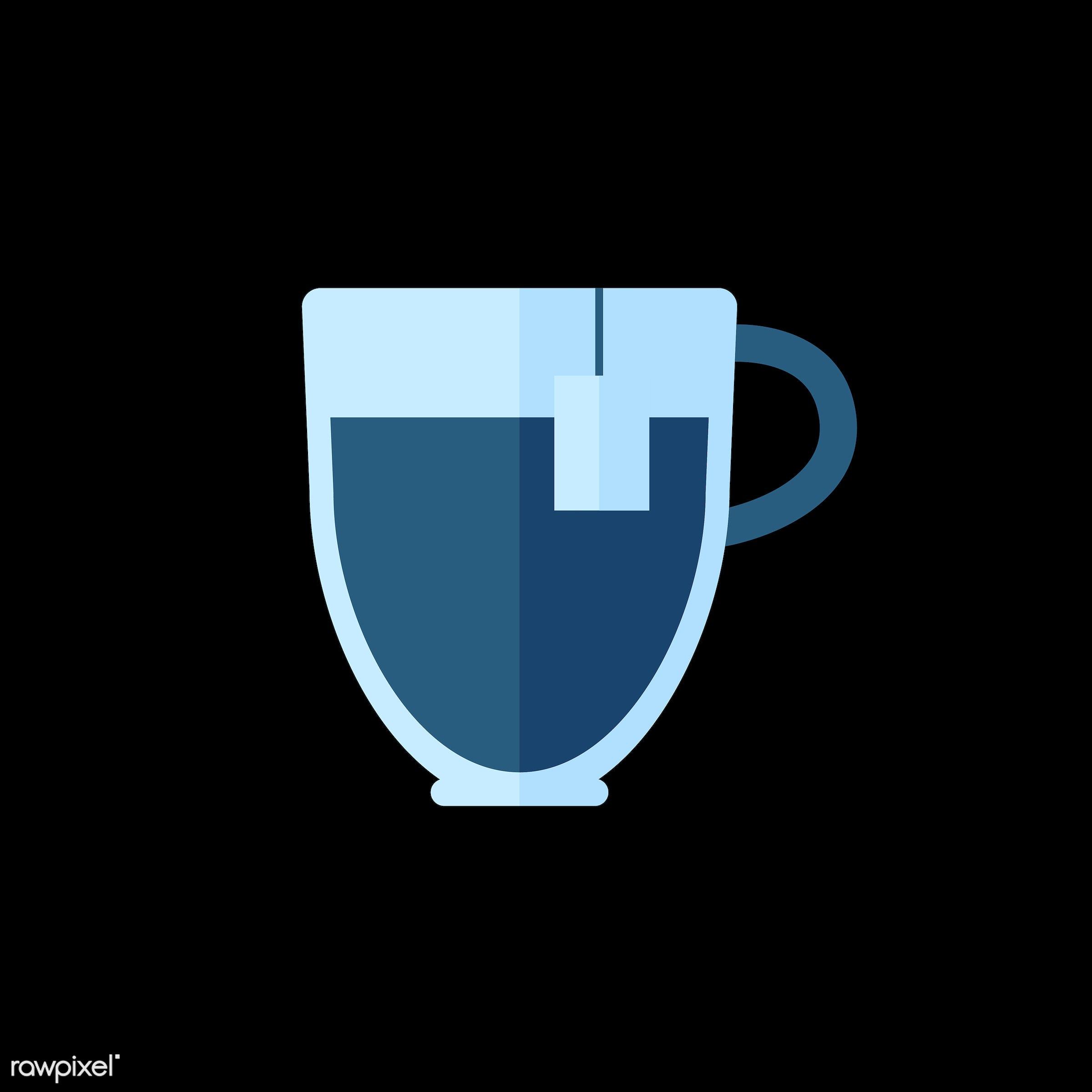 vector, graphic, illustration, icon, symbol, colorful, cute, mug, tea, tea cup, hot drink, drink, beverage, water, blue