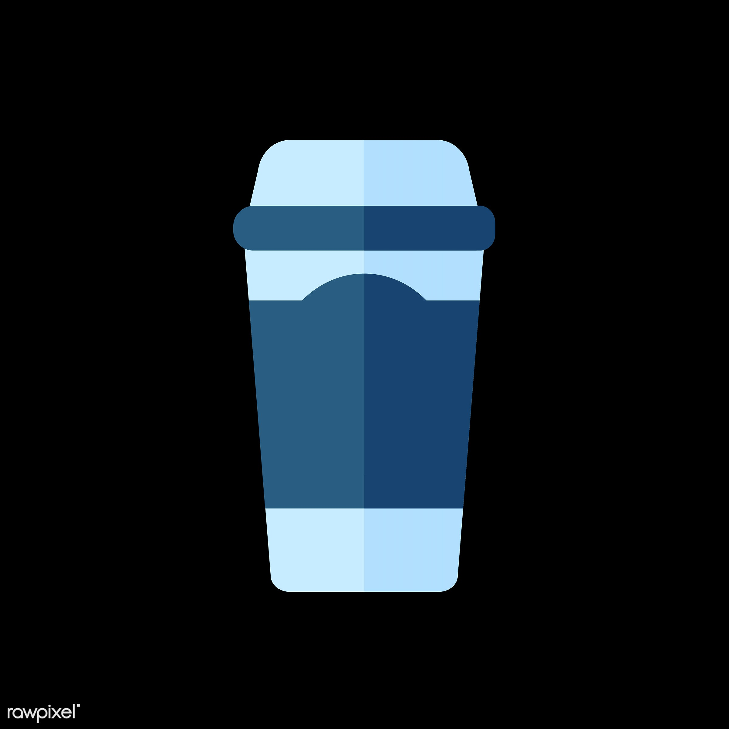 vector, graphic, illustration, icon, symbol, colorful, cute, drink, beverage, water, blue, coffee, coffee cup, coffee mug,...