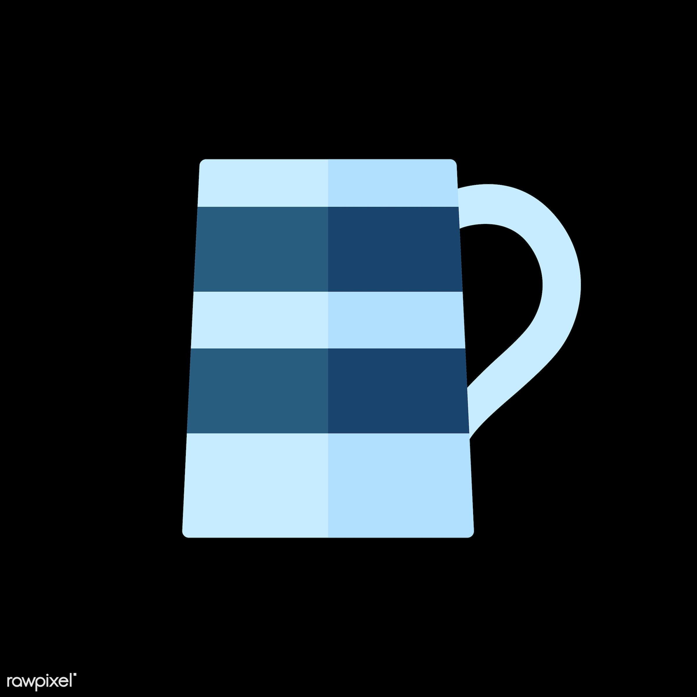 Jug of beer vector - vector, graphic, illustration, icon, symbol, colorful, cute, mug, tea, tea cup, hot drink, drink,...