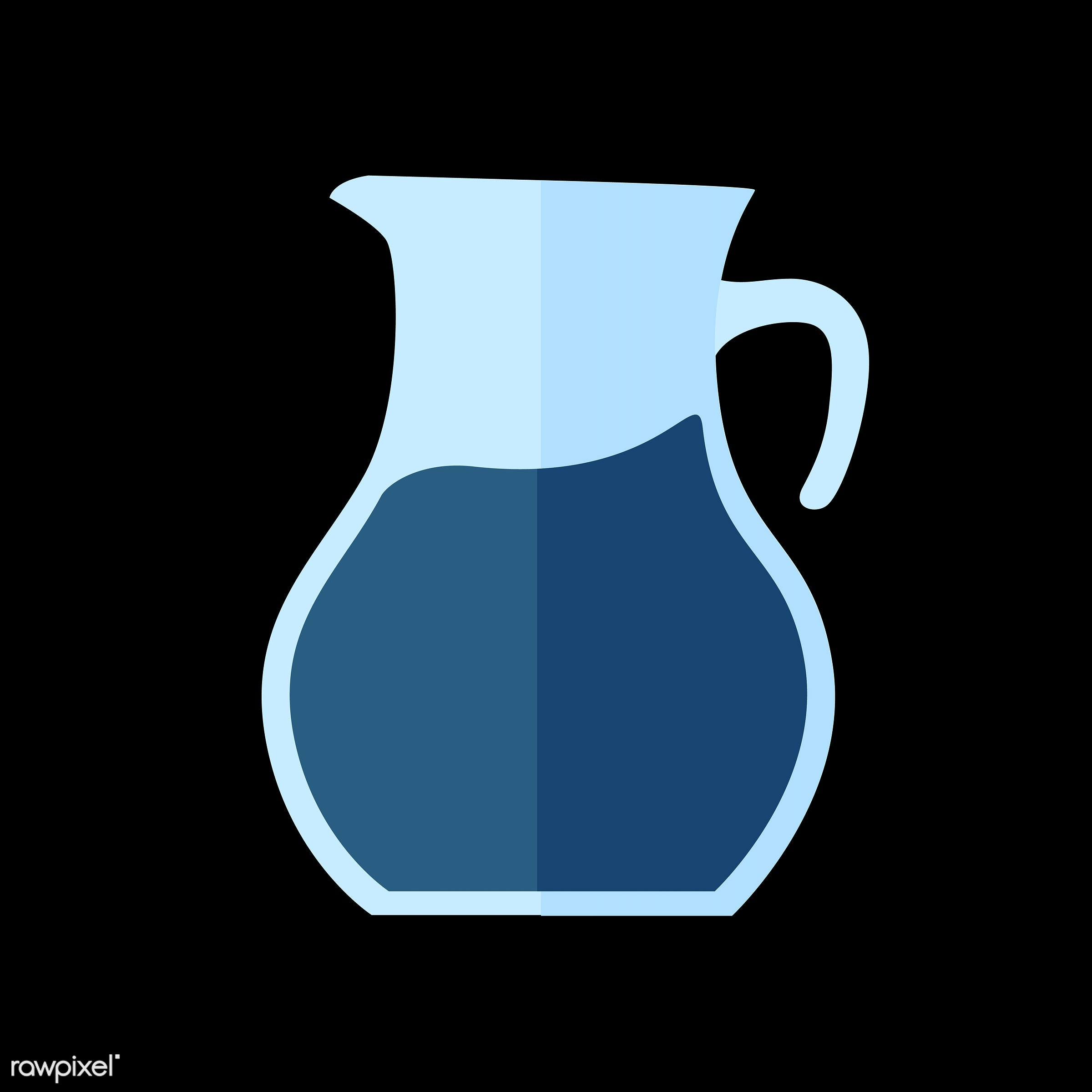 vector, graphic, illustration, icon, symbol, colorful, cute, drink, beverage, water, blue, jug, lemonade