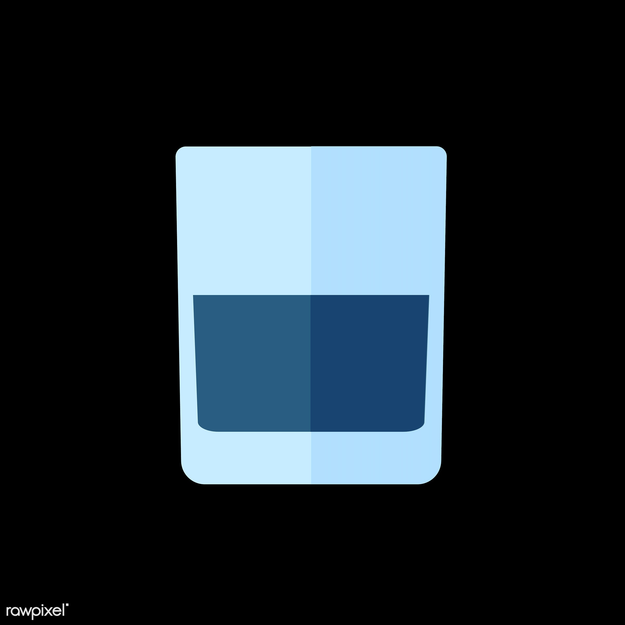 vector, graphic, illustration, icon, symbol, colorful, cute, drink, beverage, water, blue, water glass, glass