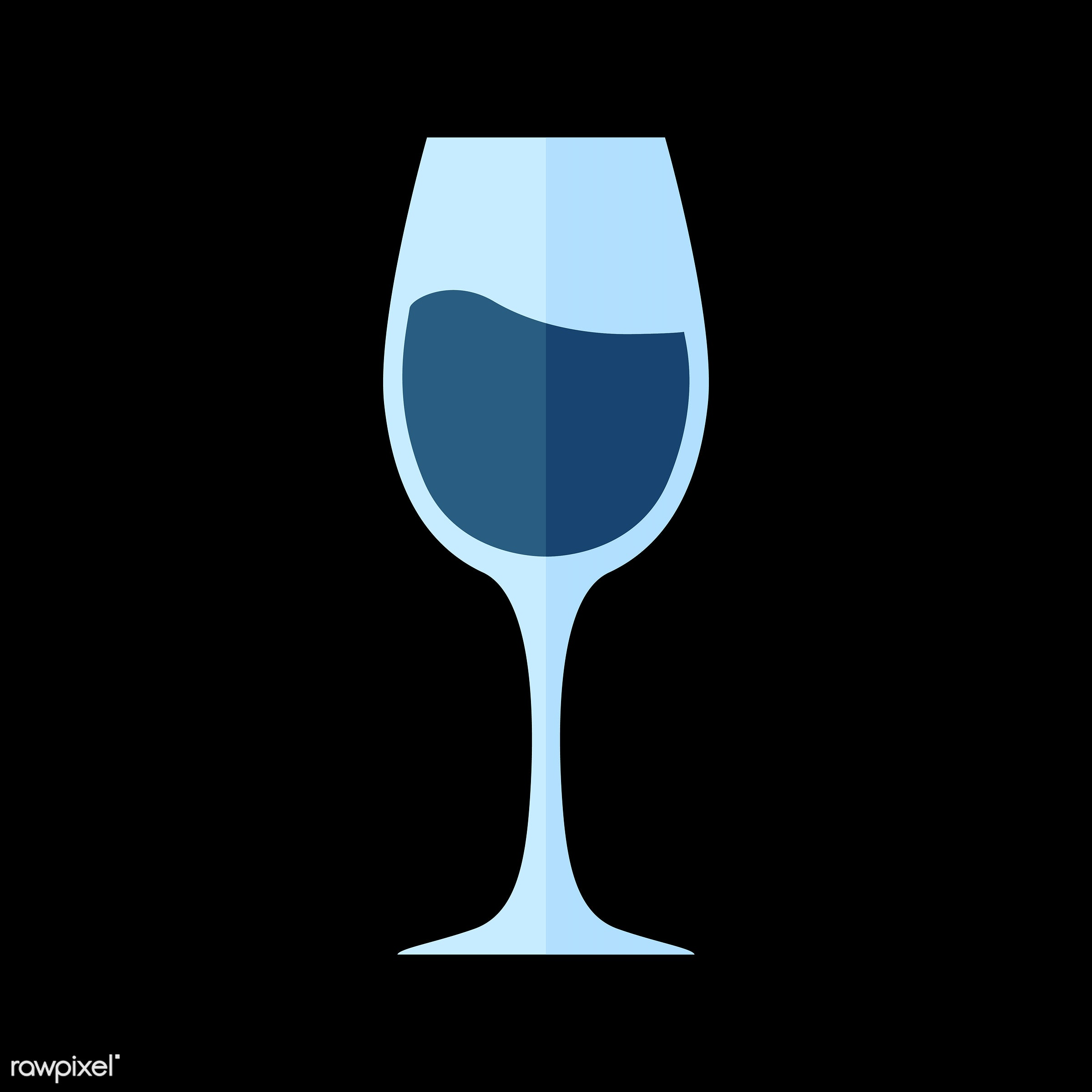 vector, graphic, illustration, icon, symbol, colorful, cute, drink, beverage, water, blue, wine, red wine, wine glass