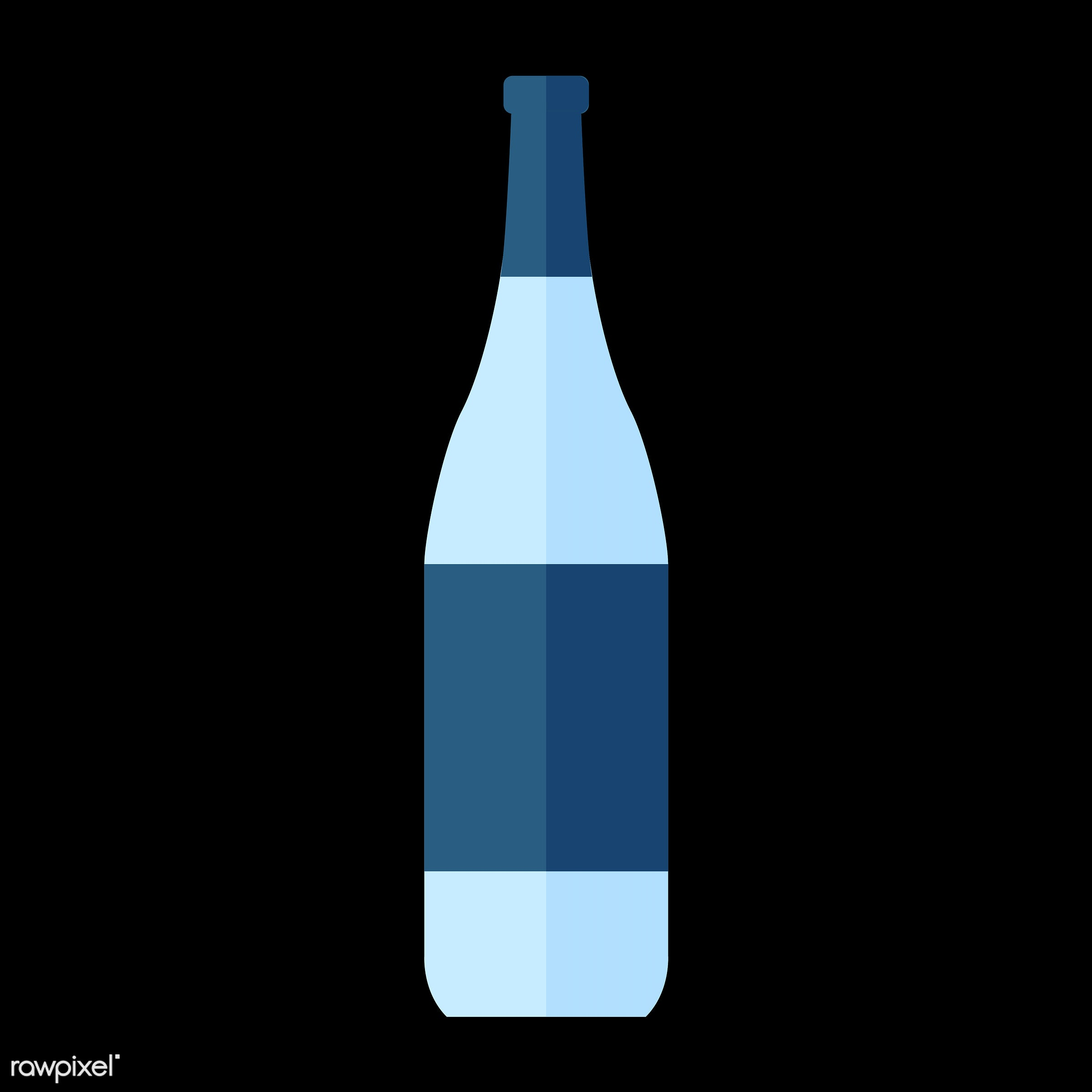 vector, graphic, illustration, icon, symbol, colorful, cute, drink, beverage, water, blue, wine, white wine, wine bottle